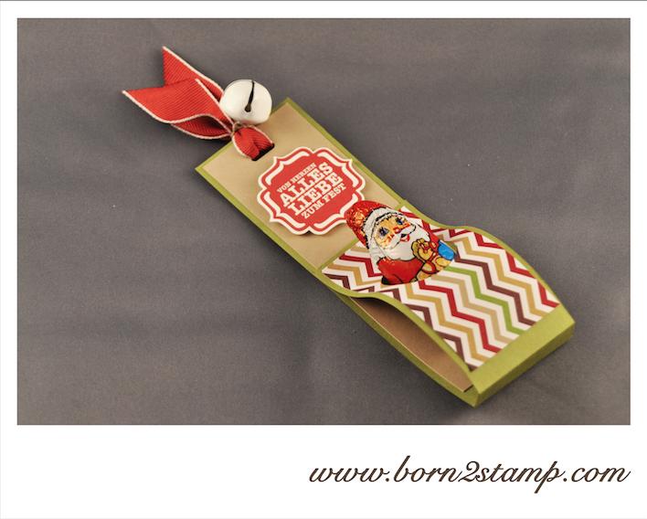 Stampin' UP! Nikoläuse mit DSP Stilmix und Tüpfelchen auf dem Geschenk