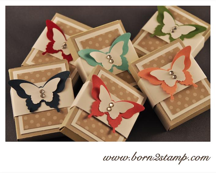 Stampin' UP! Post its mit dem Eleganten Schmetterling