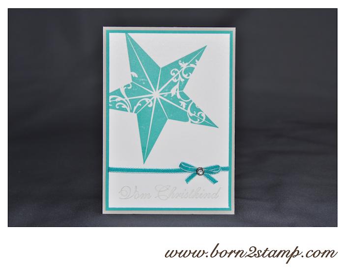STAMPIN' UP! Weihnachtskarte mit Christmas Star und Grüße zum Fest