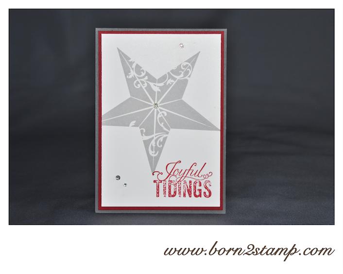 STAMPIN' UP! Weihnachtskarte mit Christmas Star und Christmas Messages