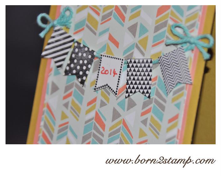 STAMPIN' UP! Neujahrskarte mit Süße Sorbets SAB 2014