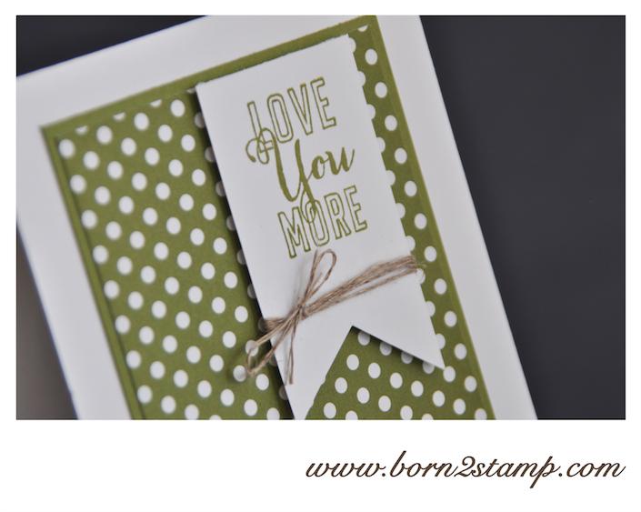 STAMPIN' UP! Valentinskarte mit Liebesgrüße