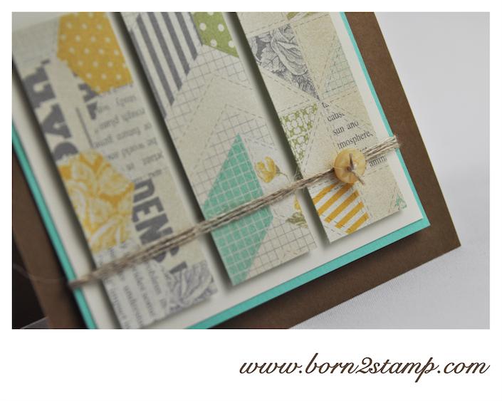 STAMPIN' UP! Geburtstagskarte mit DSP Picknick am Nachmittag und Create a Cupcake