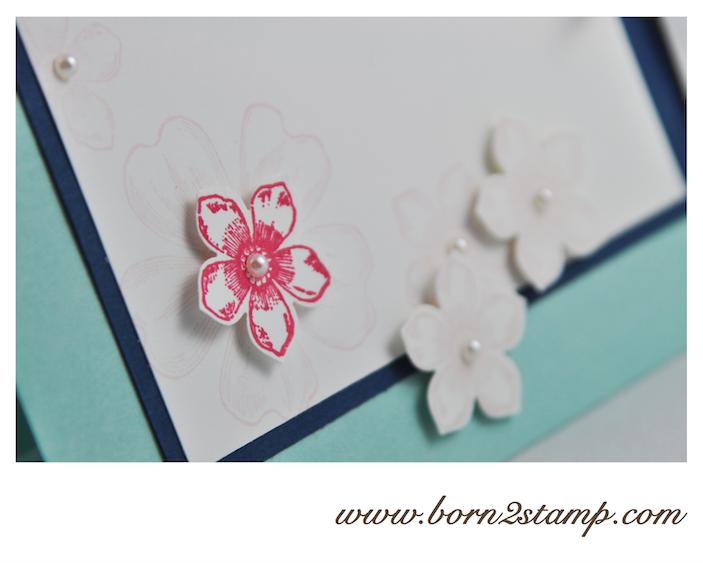 STAMPIN' UP! Geburtstagskarte mit Petite Petals und Flower Shop und Dein Tag