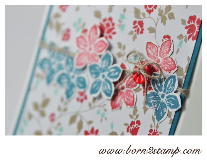 STAMPIN' UP! Karte mit Frisch & Farbenfroh und Petite Petals