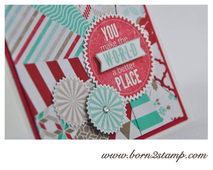 STAMPIN' UP! Karte mit Starburst Sayings und DSP Frisch& Farbenfroh