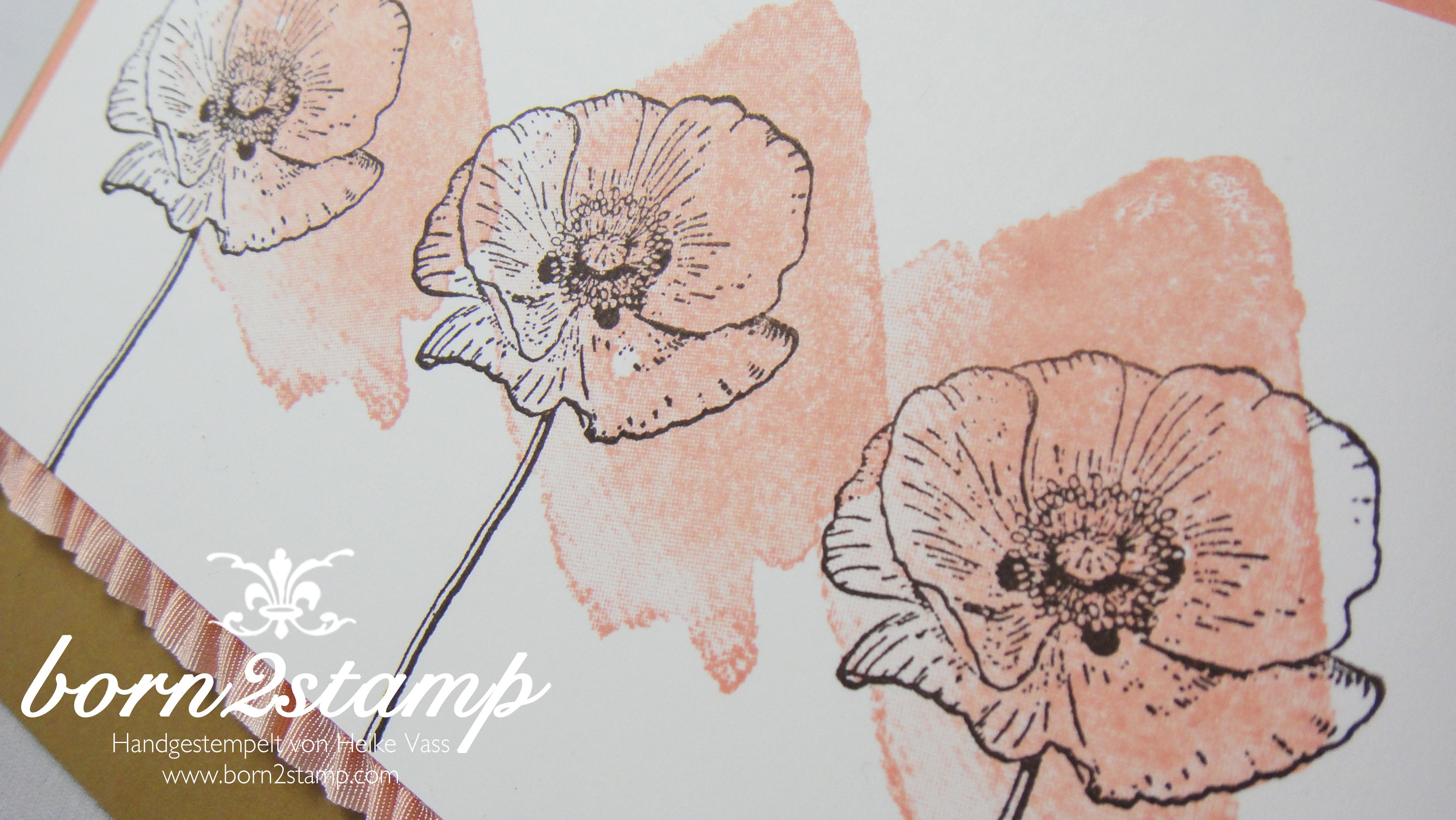 STAMPIN' UP! Karte mit Happy Watercolor und Stretchband
