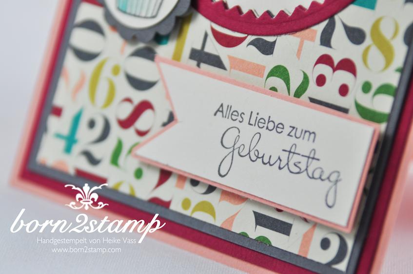 STAMPIN' UP! Karte mit Perfekte Pärchen und Dein Tag und DSP Geburtstagsbasics