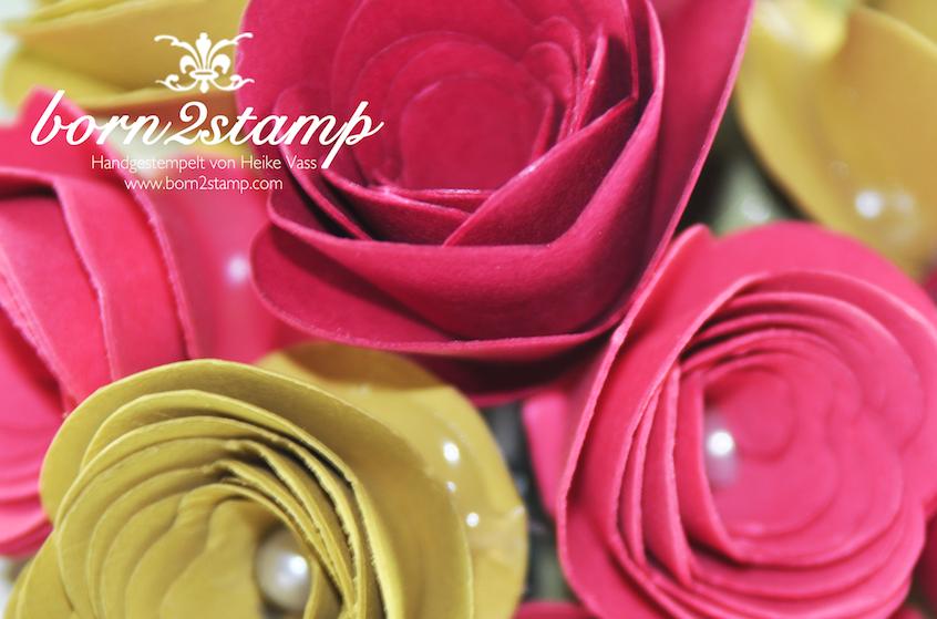 STAMPIN' UP! Muttertagsstrauß mit Spiralblume und Perlenschmuck