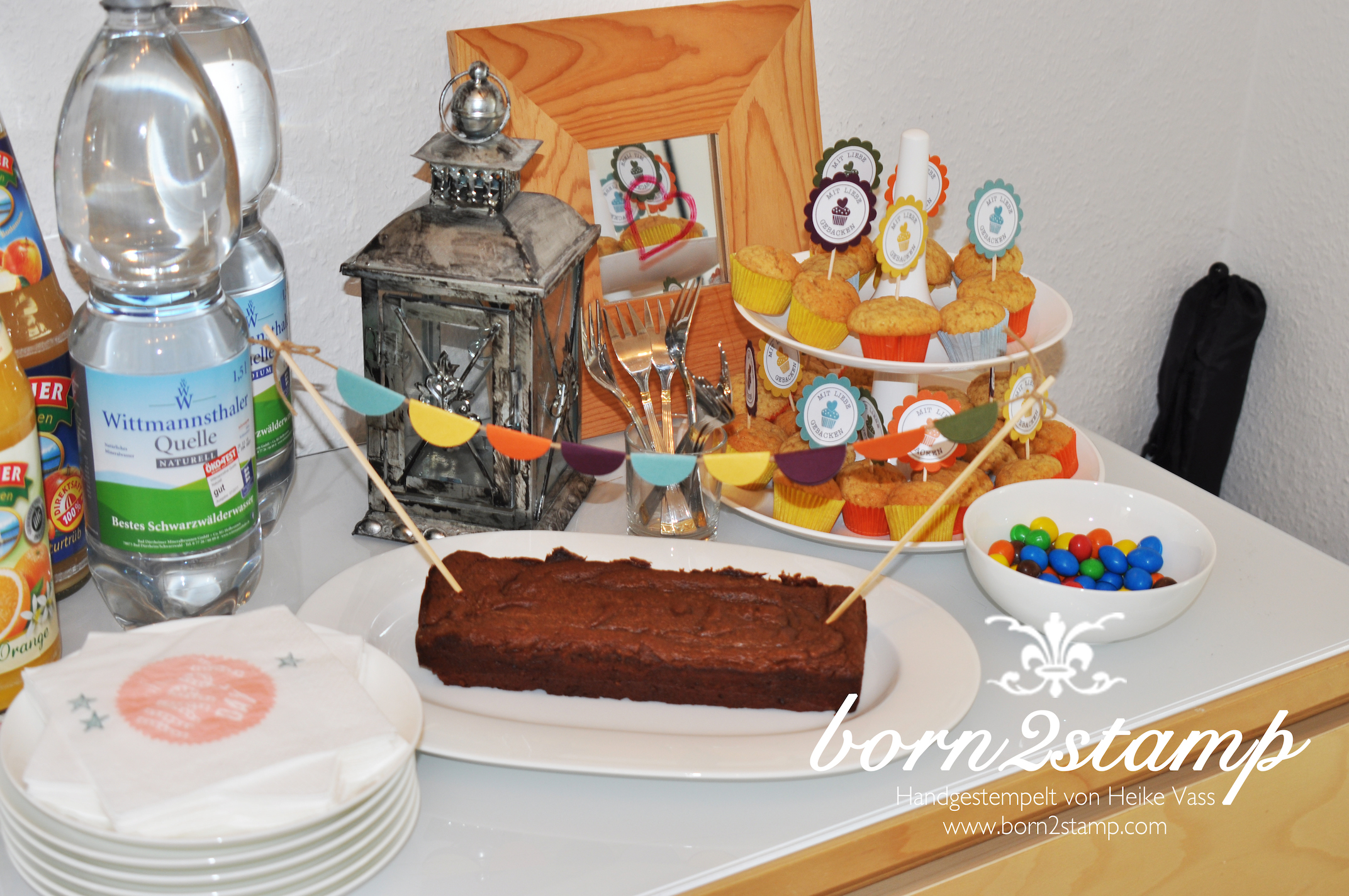 Katalogparty born2stamp Kuchenbuffet