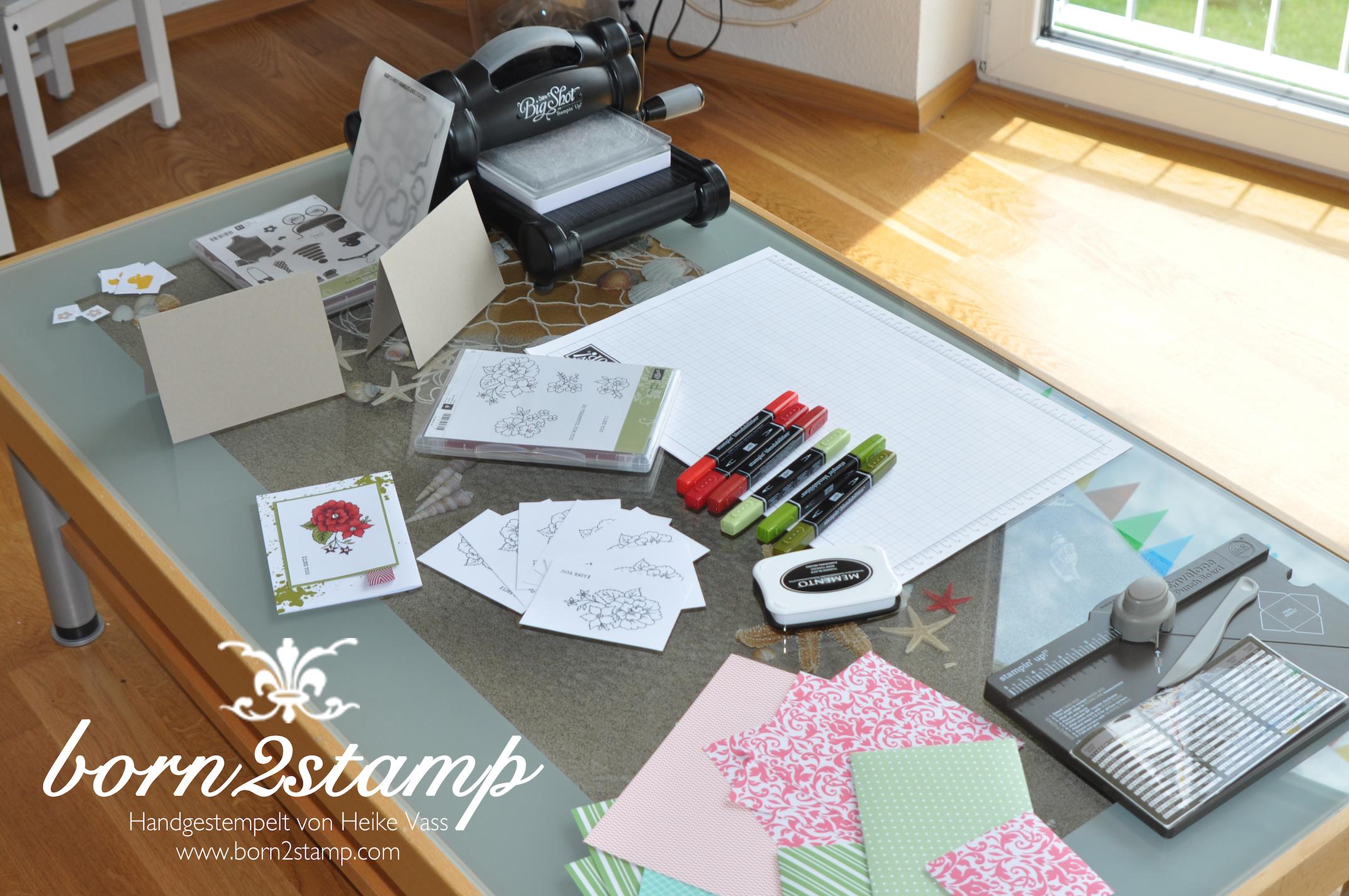 Katalogparty born2stamp Produkte zum Testen