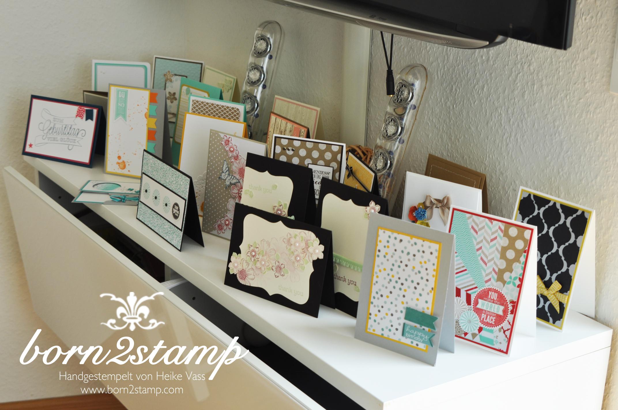 Katalogparty born2stamp Beispielkarten