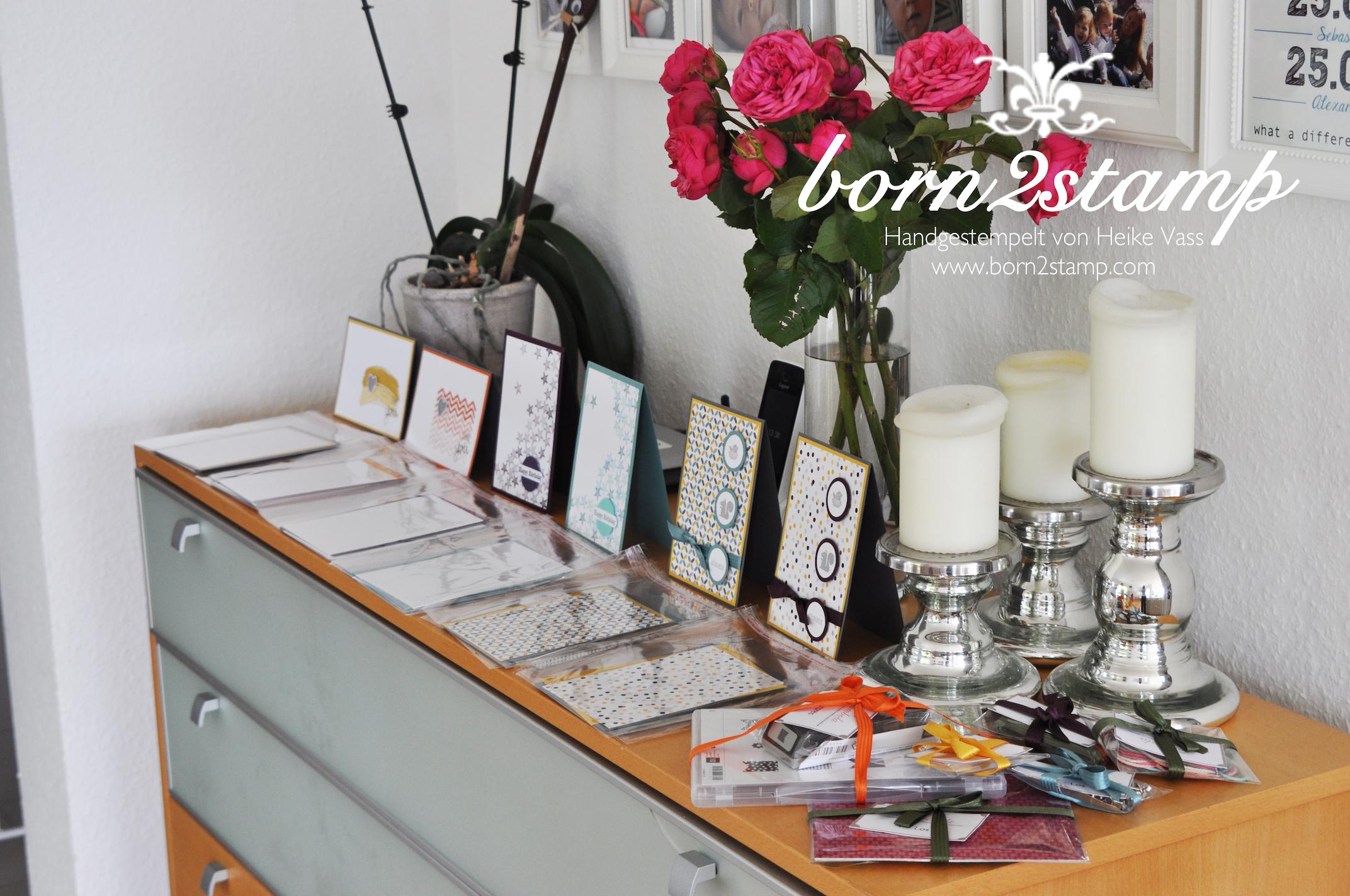 Katalogparty born2stamp Projektbuffet und Tombolagewinne