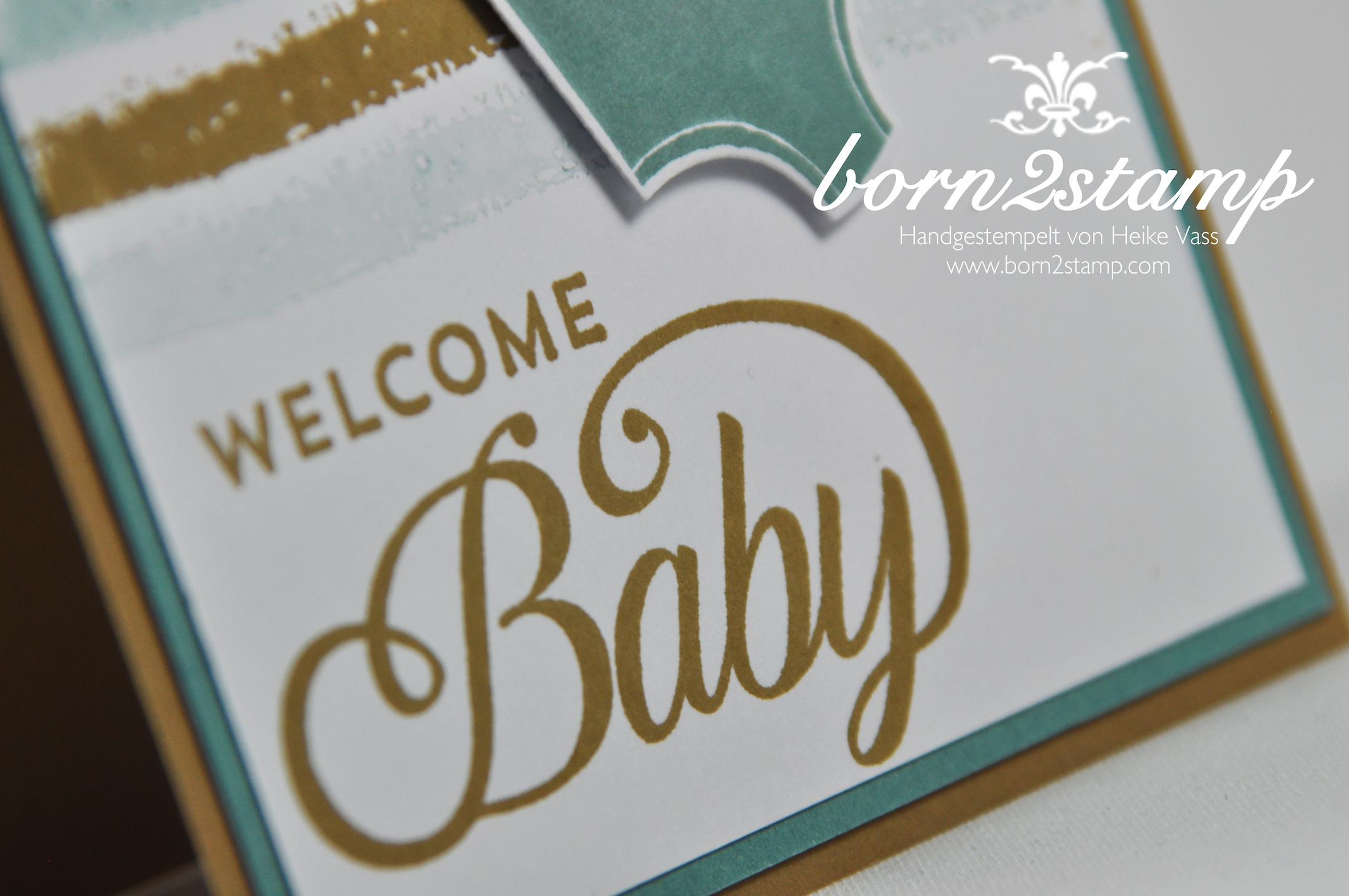STAMPIN' UP! Babykarte Celebrate Baby Work of Art Something for Baby