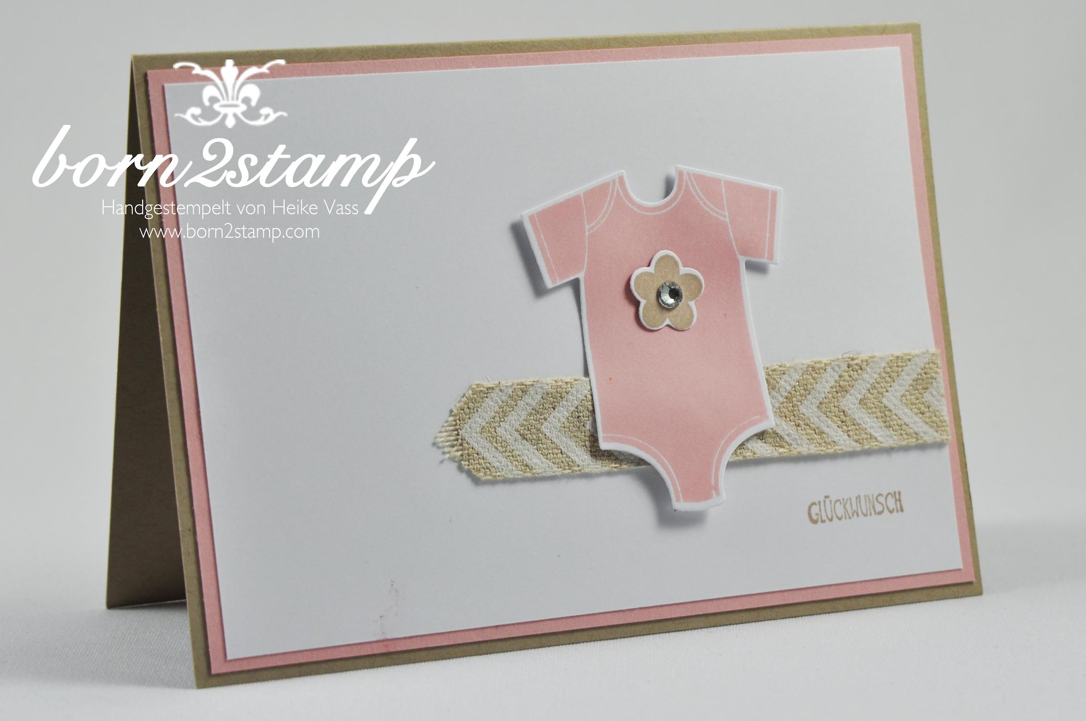 STAMPIN' UP! Babykarte Something for Baby Alles fürs Baby Der Wald ruft