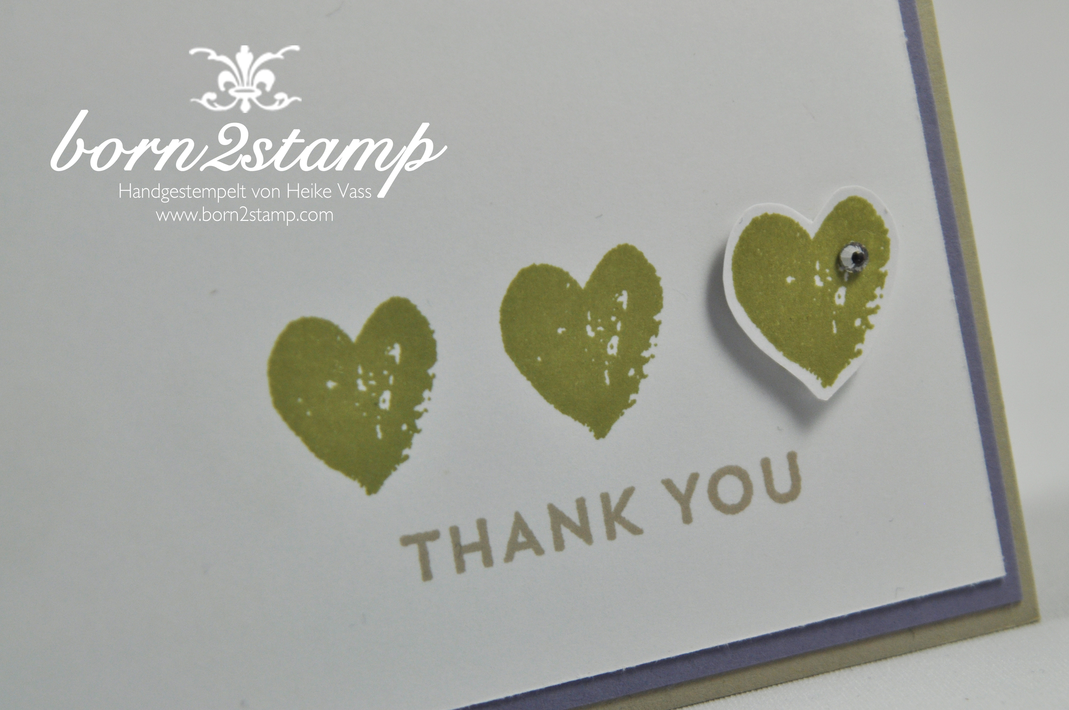 STAMPIN' UP! Dankeskarte mit Welcome Baby und Work of Arts