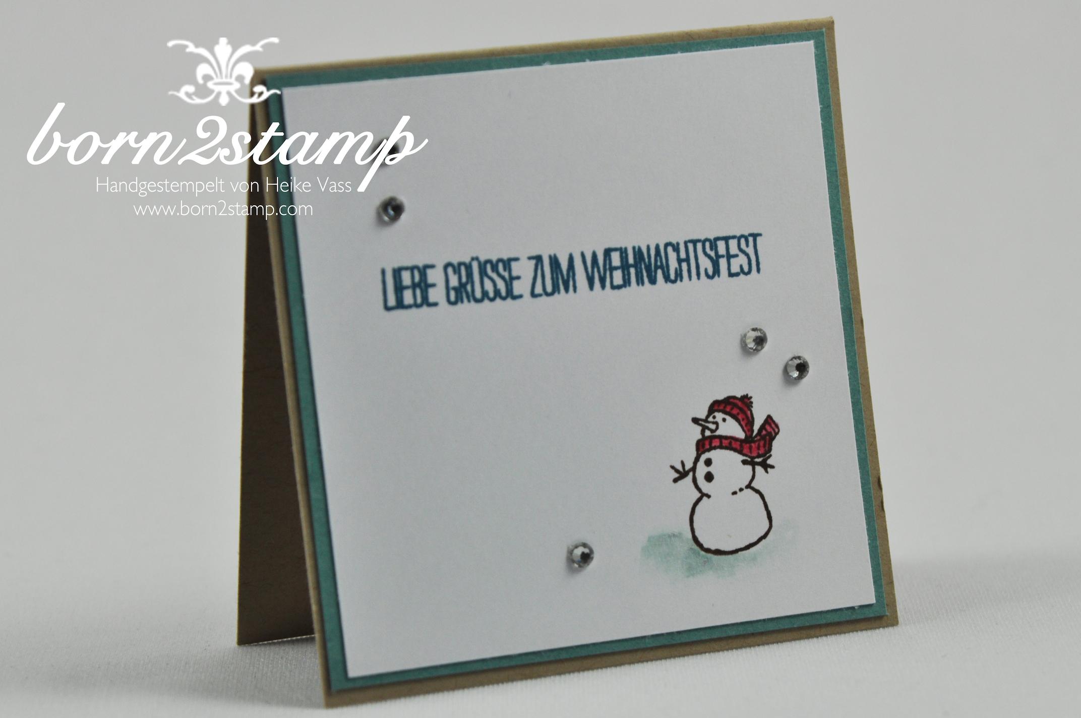 STAMPIN' UP! Minikärtchen 3×3″ Weiße Weihnacht, Gesammelte Grüße, Stanzenpaket Itty bitty Akzente