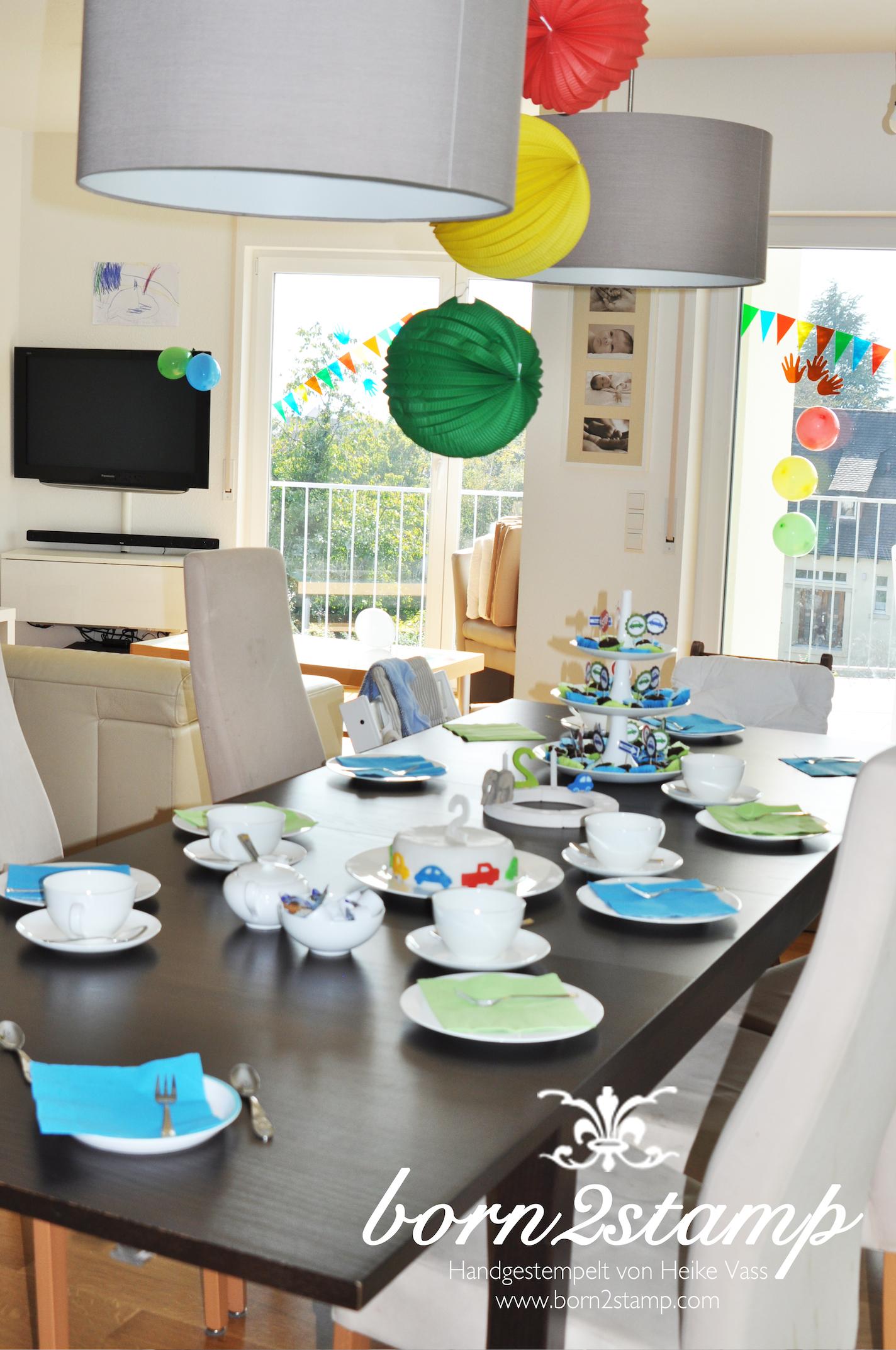 Auto Party Geburtstag Birthday Car theme Tischdeko Geburtstagstisch birthday table decoration