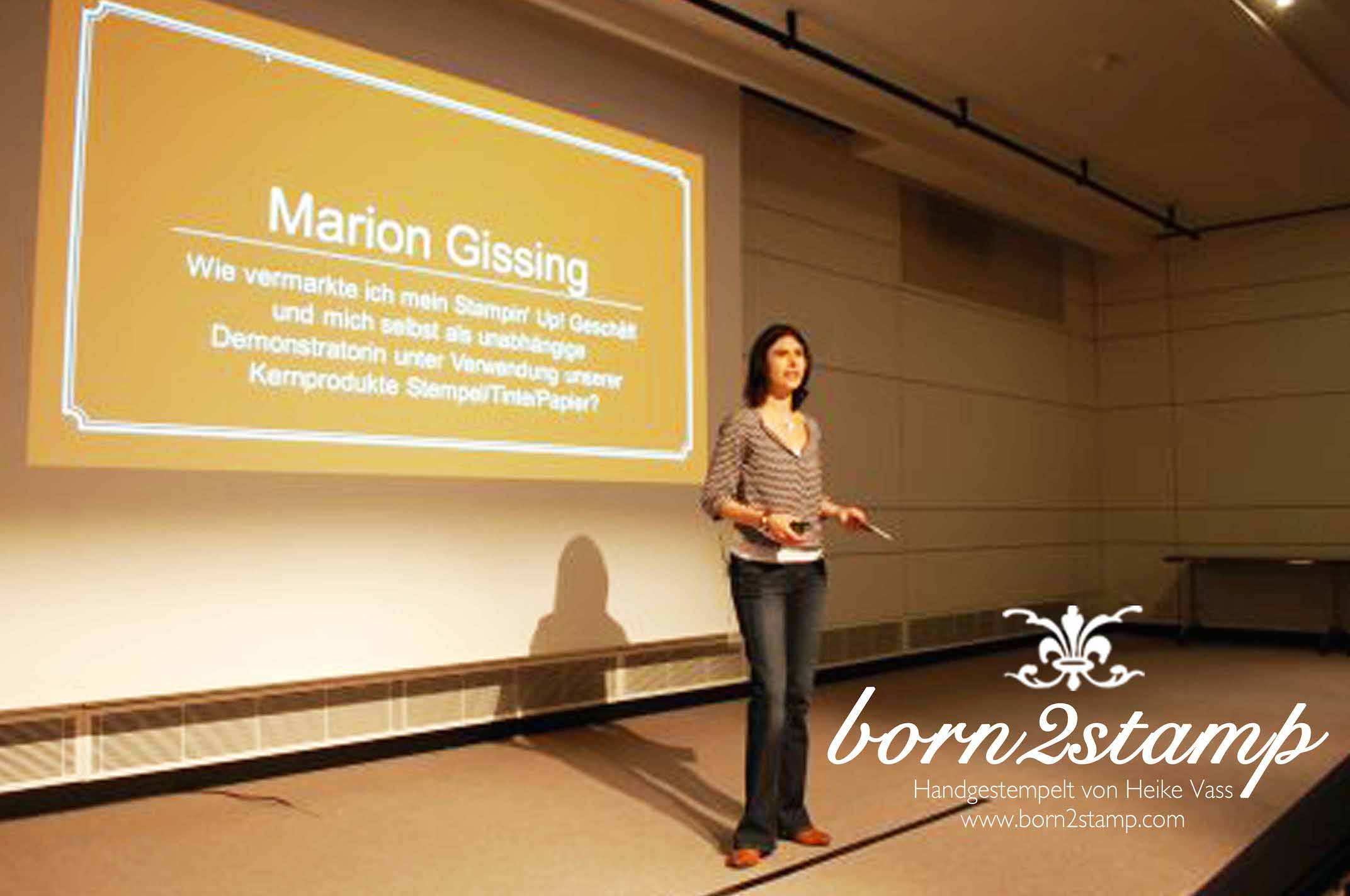 STAMPIN' UP! Convention in Bruessel Praesentation Marion Gissing