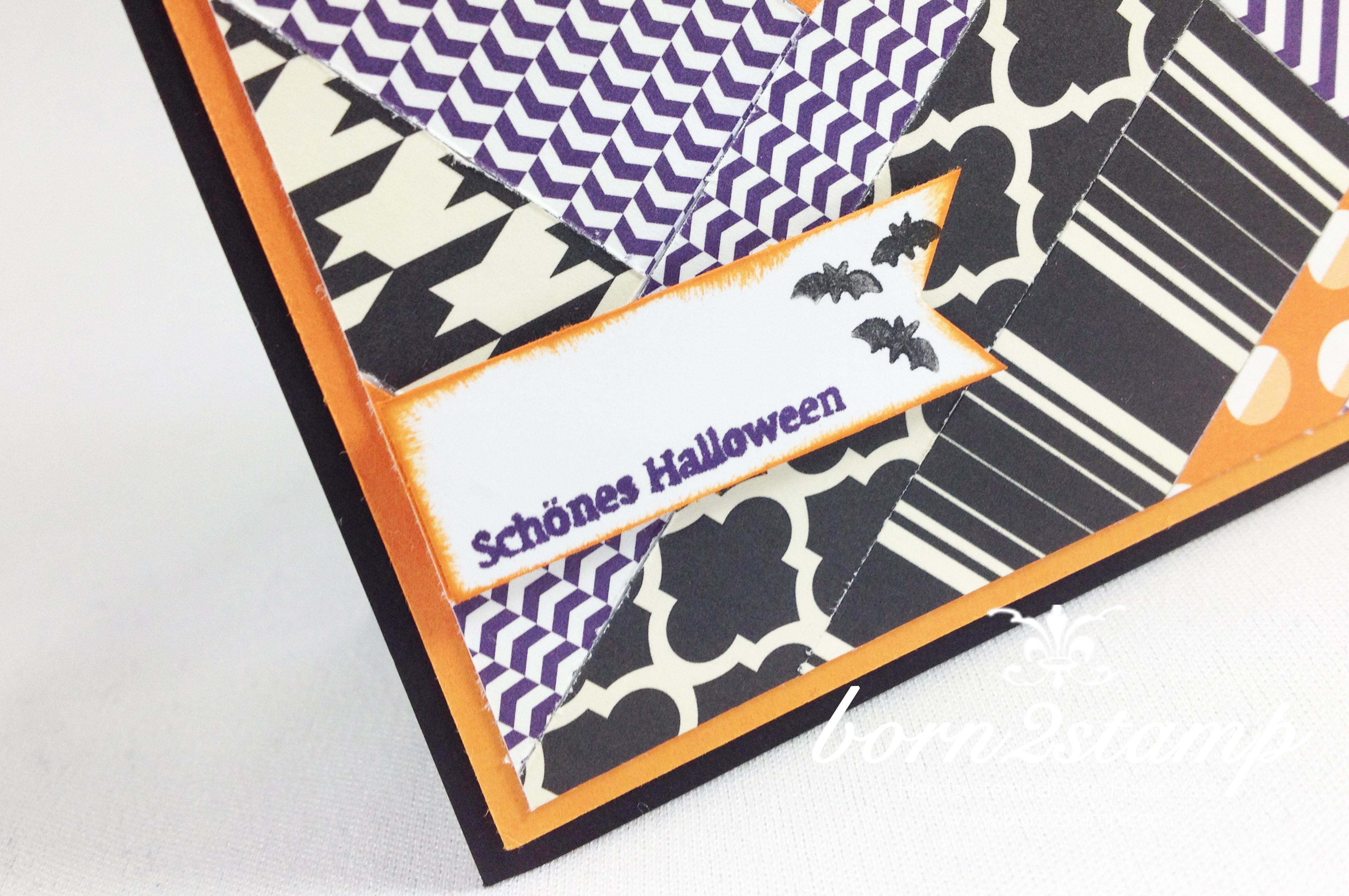 STAMPIN' UP! Halloweenkarte Aus dem Haeuschen 2