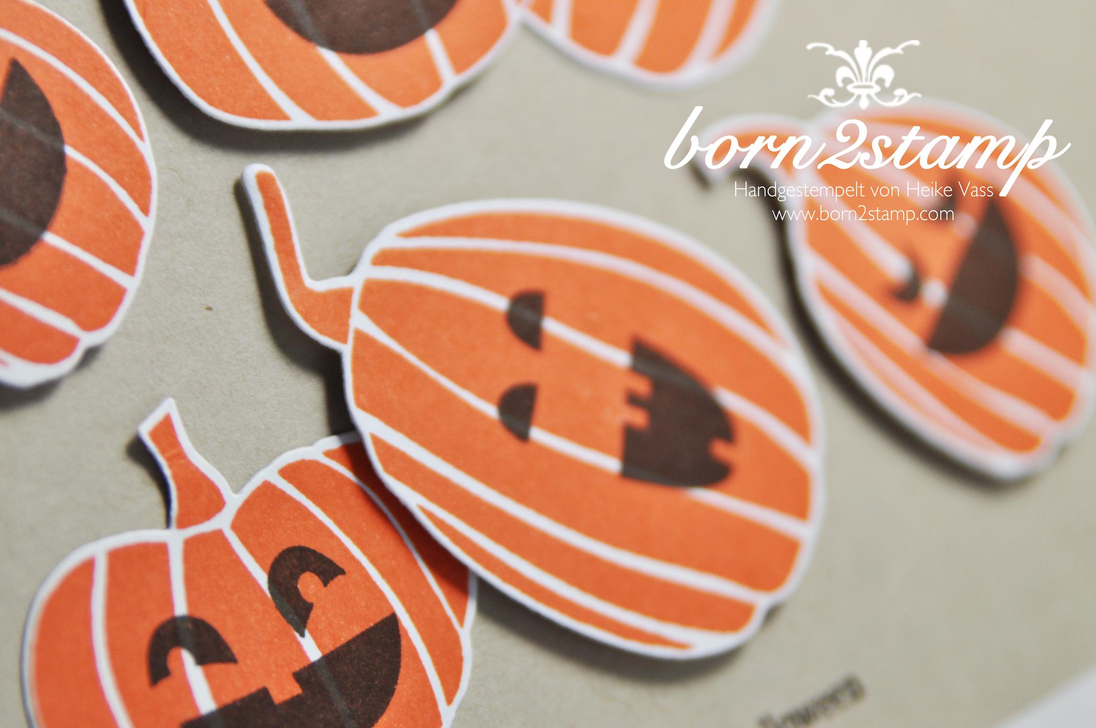 STAMPIN' UP! Halloweenkarte Fall Fest Fun Fall Aus dem Haeuschen