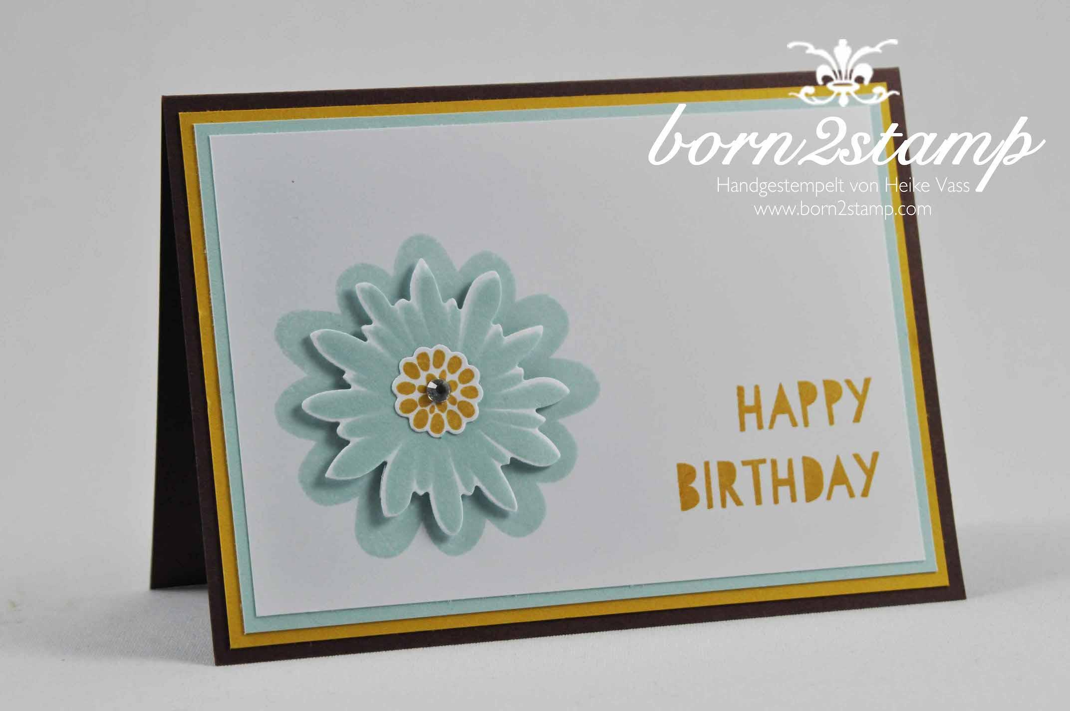 STAMPIN' UP! born2stamp Geburtstagskarte Flower Patch Age Awareness