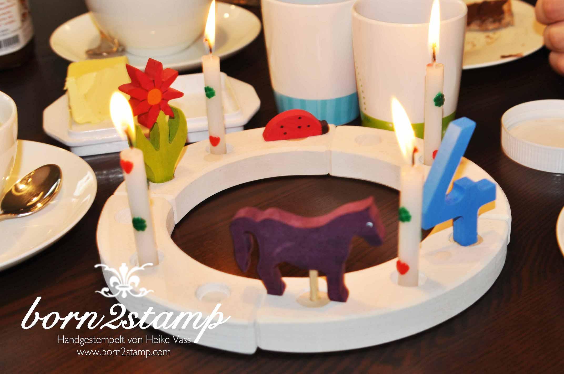 STAMPIN' UP! born2stamp Pferdeparty Kindergeburtstag Geburtstagskerzen horse themed birthday party candles