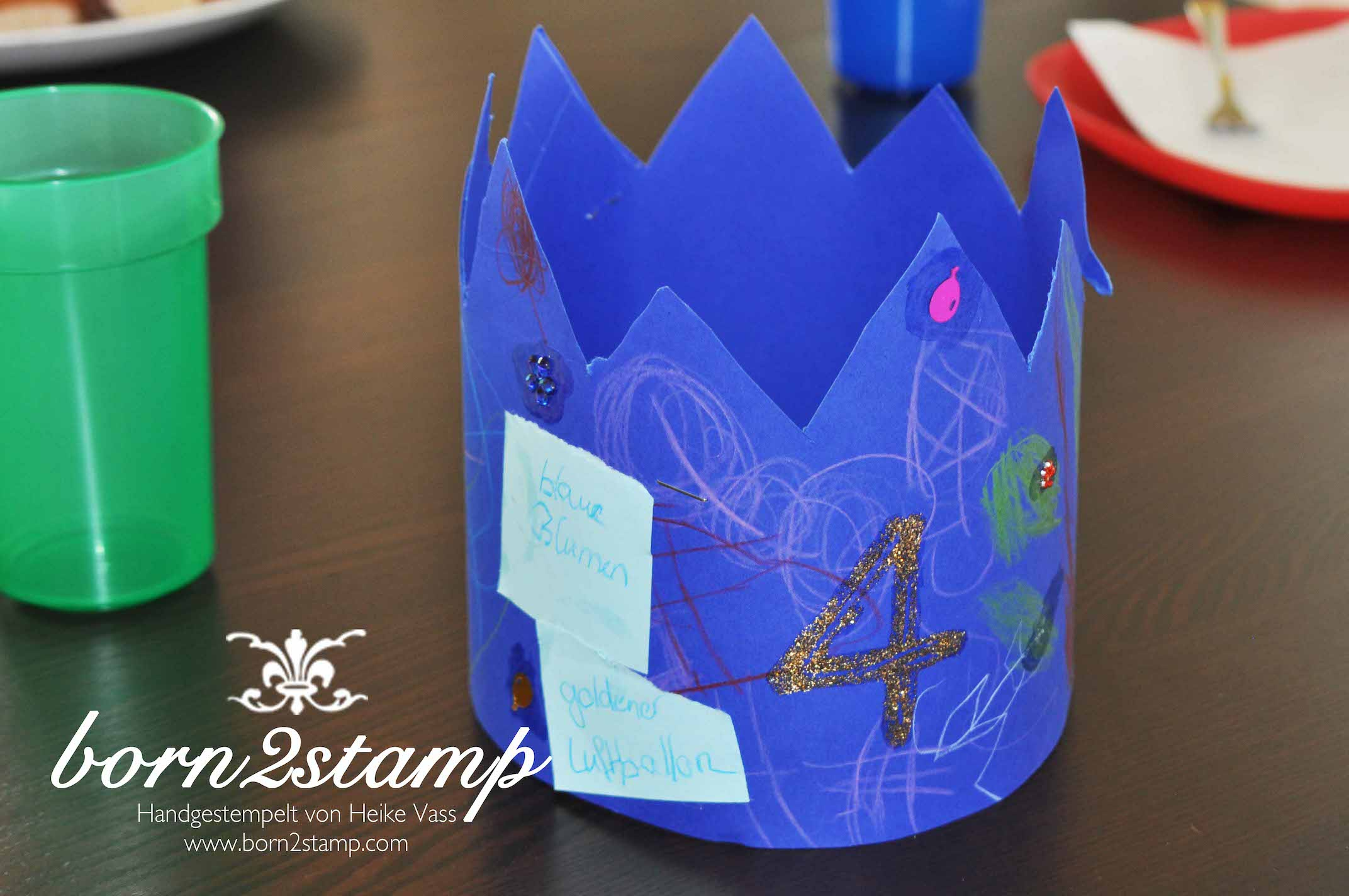 STAMPIN' UP! born2stamp Pferdeparty Kindergeburtstag Geburtstagskrone horse themed birthday party crown