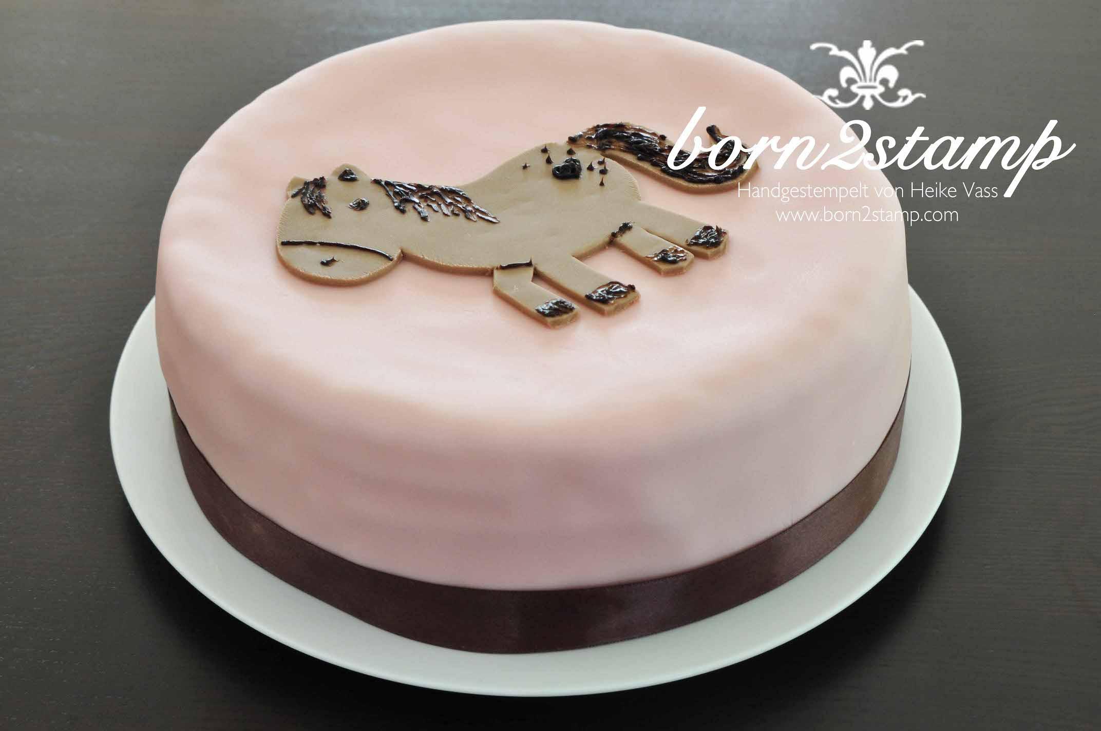 born2stamp Pferd Geburtstagsparty Kuchen Torte Horse birthday party cake