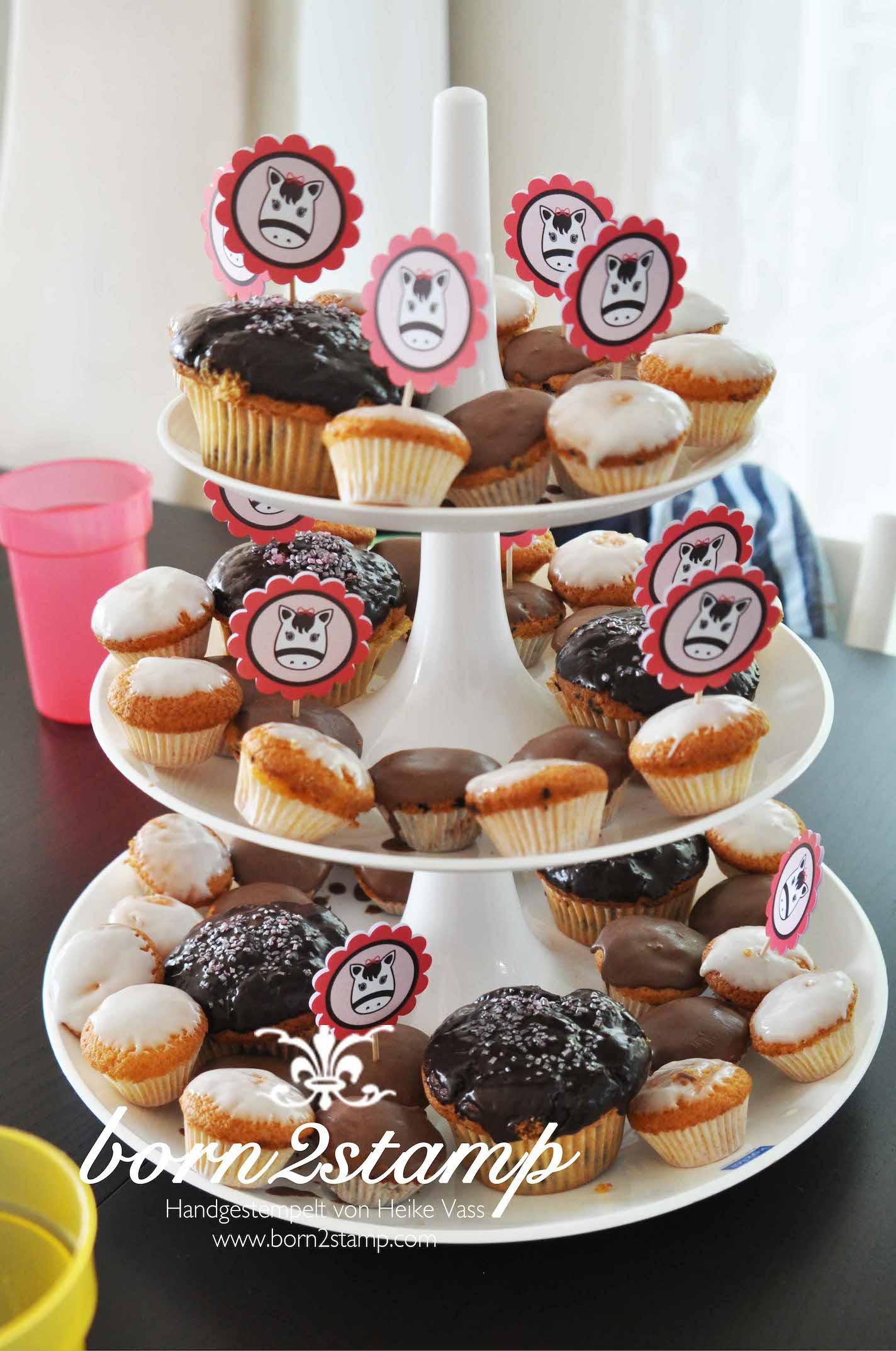 born2stamp Pferd Geburtstagsparty Muffins Horse birthday party