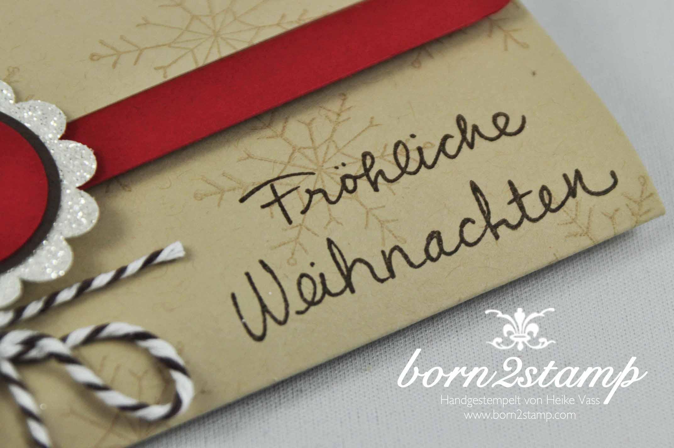STAMPIN' UP! born2stamp Adventskalender to go Wuensche zum Fest Itty bitty Akzente Kreisstanze Kordel