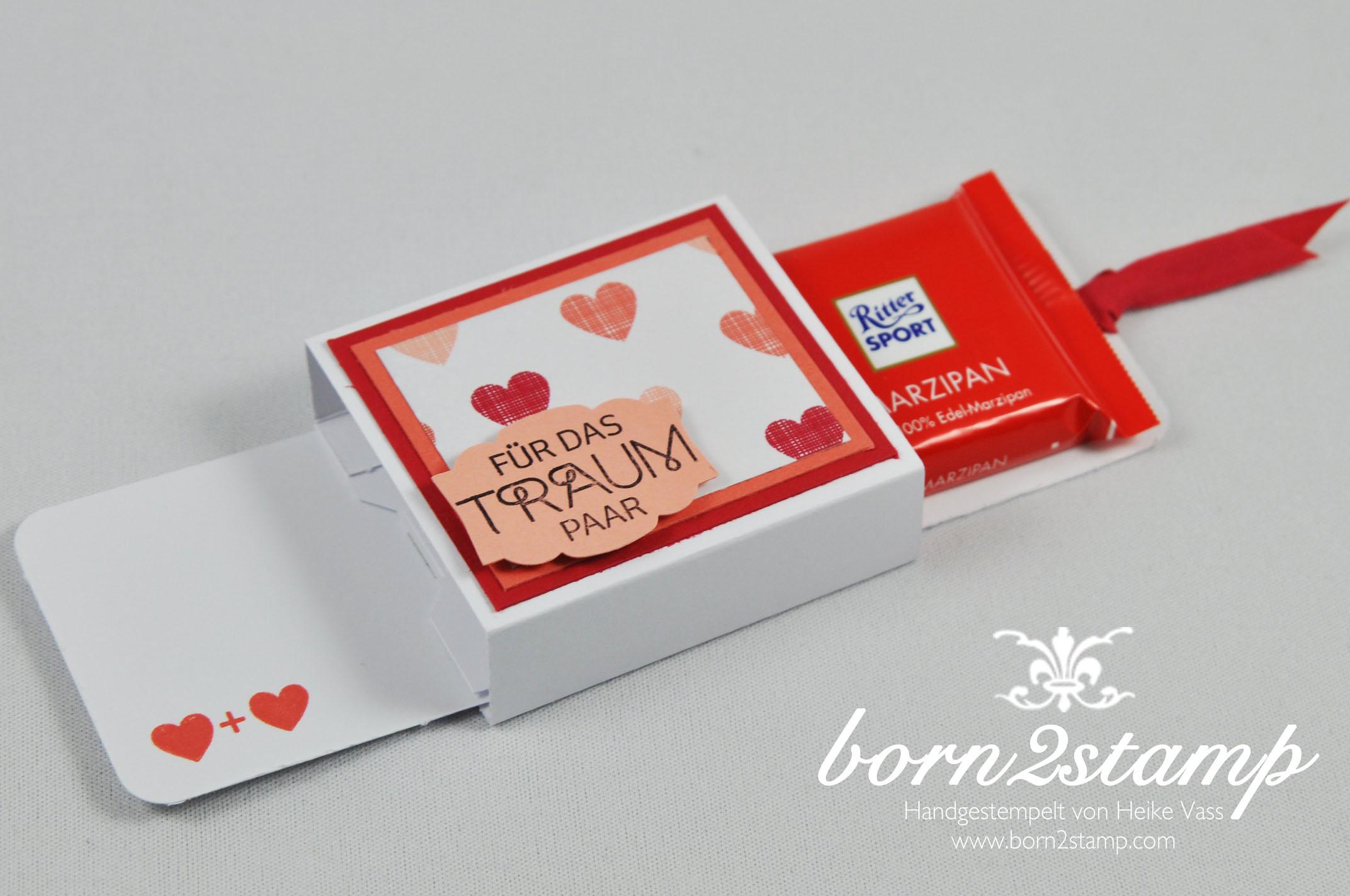 STAMPIN' UP! born2stamp kleine Verpackung Perfekter TagDSP Jede Menge Liebe Baumwollband