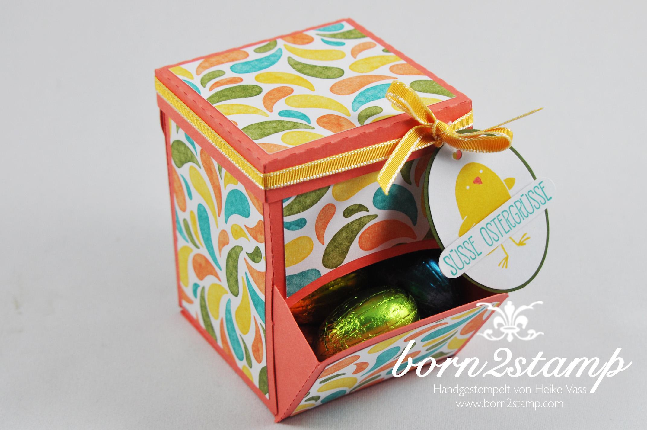 STAMPIN' UP! born2stamp – Candy Dispenser – DSP Geburtstagsparty – Ei, ei, ei