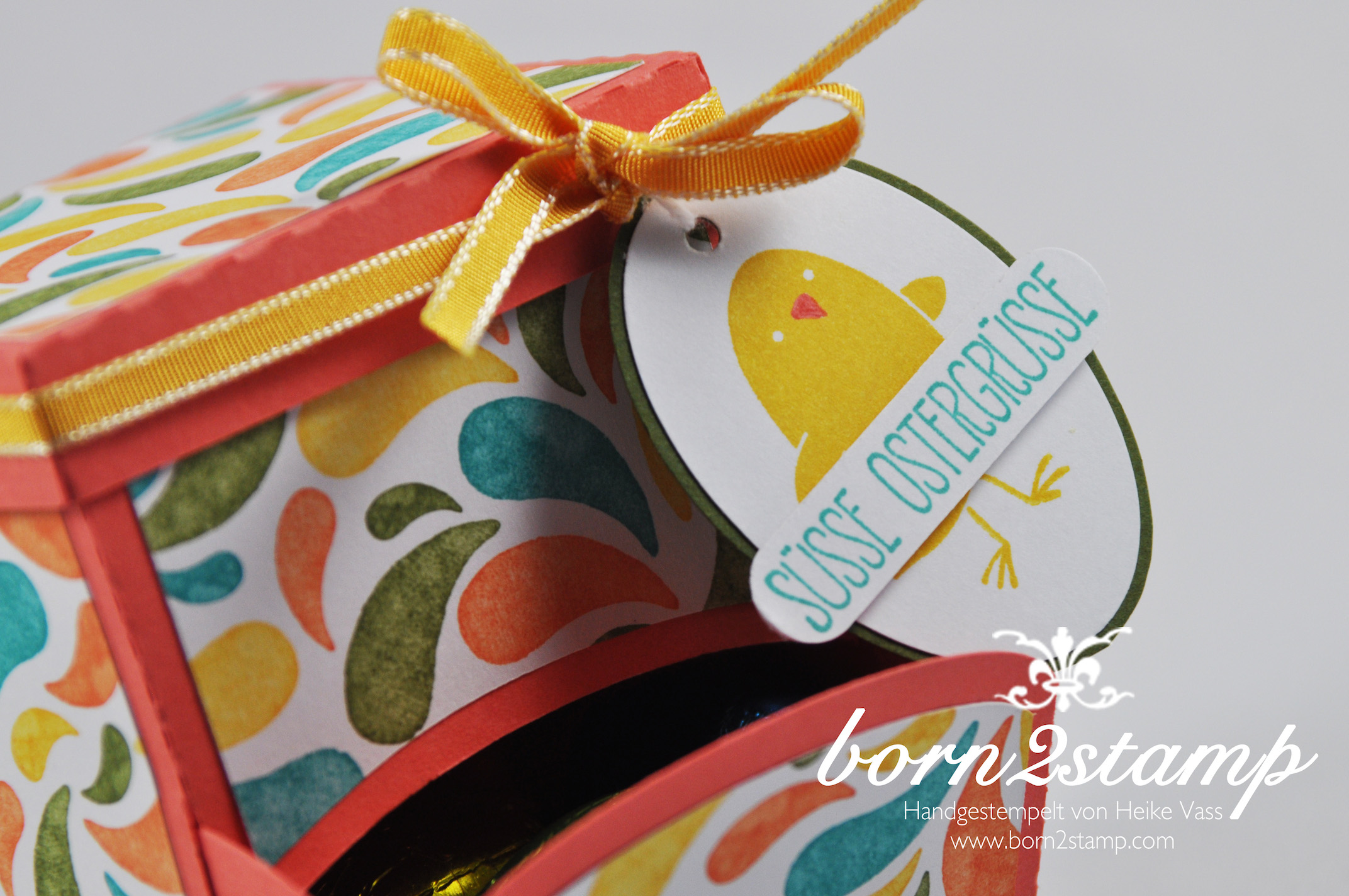 STAMPIN' UP! born2stamp – Candy Dispenser – DSP Geburtstagsparty – Ei, ei, ei
