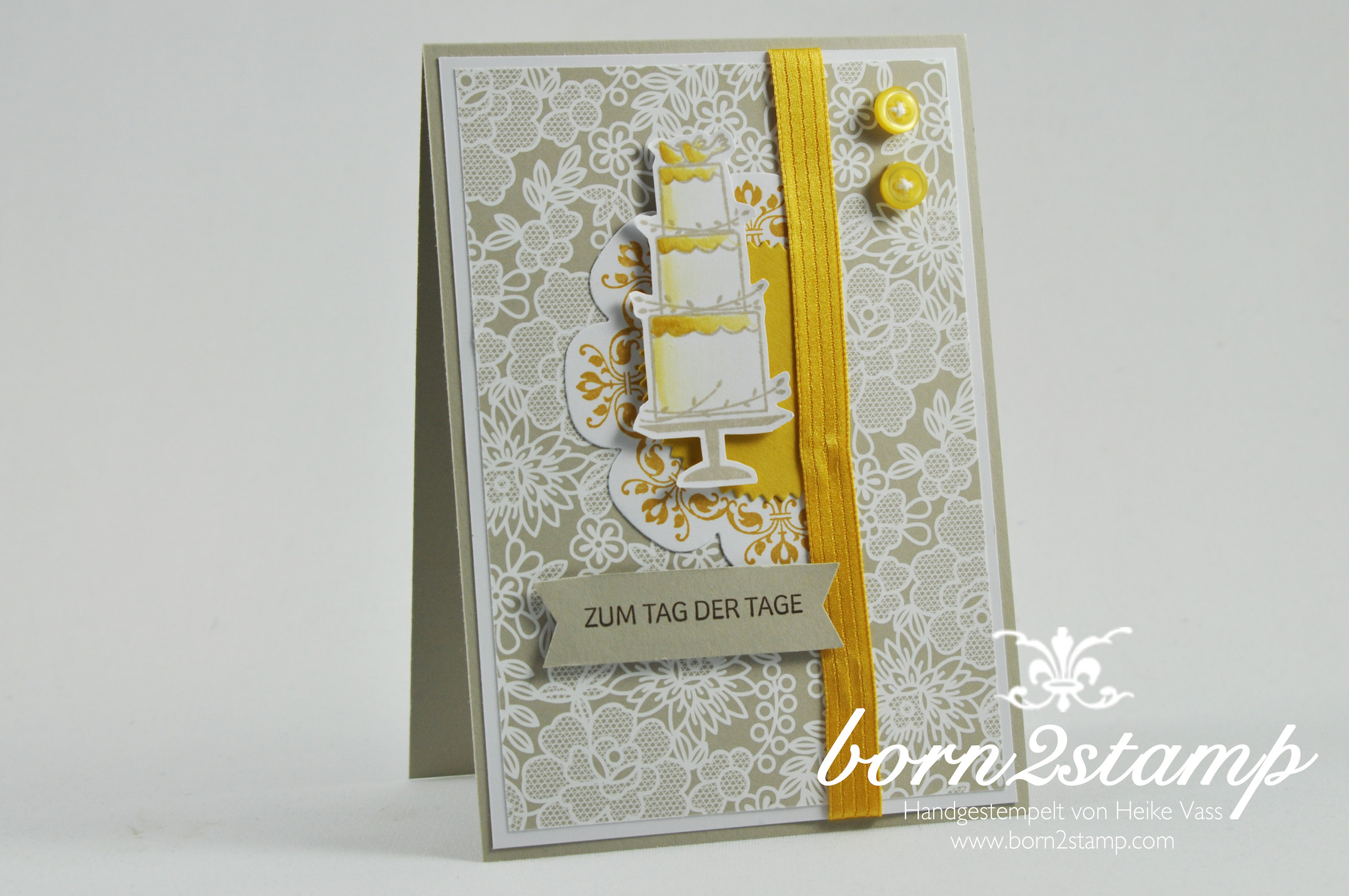STAMPIN' UP! born2stamp Hochzeitskarte – wedding – Daydream Medallion – Perfekter Tag – Starburst Framelits – Floral Frames Framelits – DSP Trau Dich