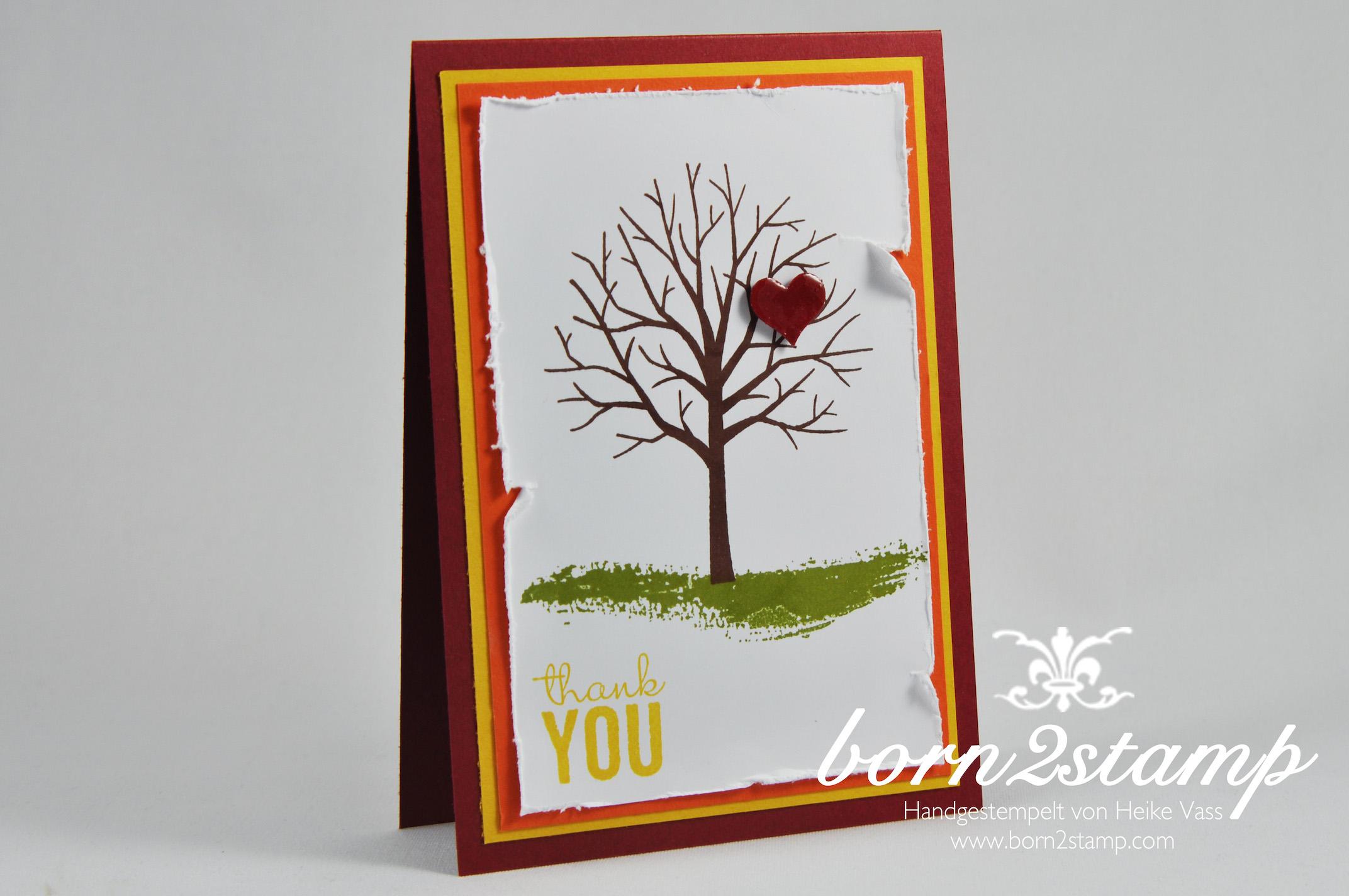 STAMPIN' UP! born2stamp Muttertagskarte – mother's day – Painted Petals – Baum der Freundschaft – Crystal effects