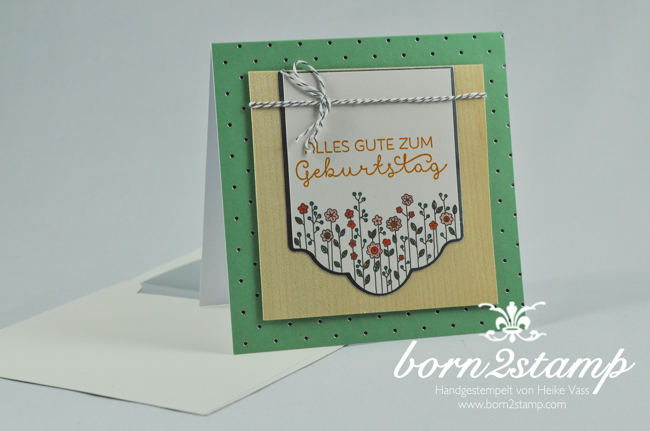 STAMPIN' UP! born2stamp Dankeskarte – Geburtstagskarte – Kartenset Landlust – Cottage Greetings