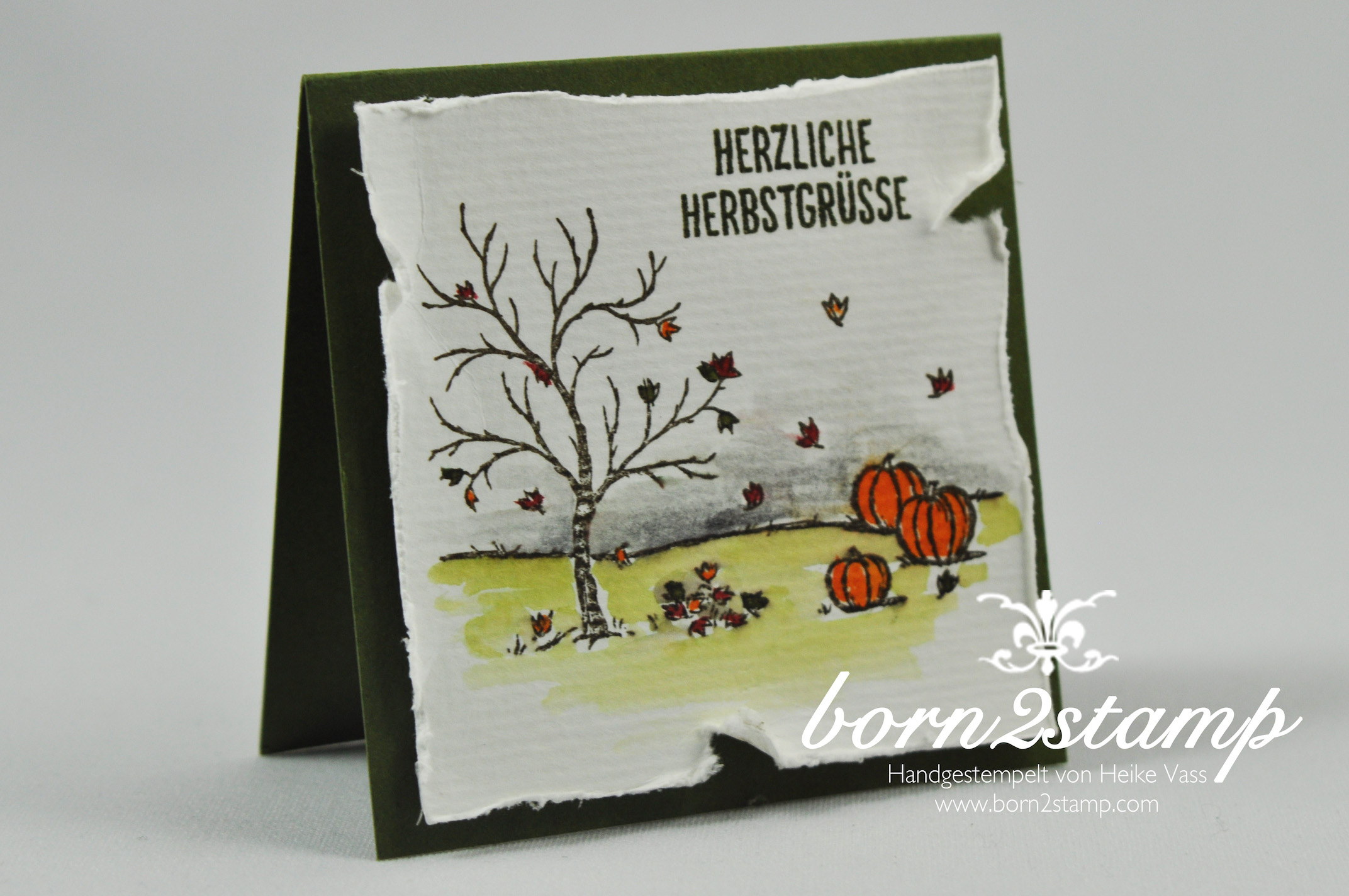 born2stamp STAMPIN' UP! Minikarten – Herbst – Winter – Bloghop – Frohliche Stunden – Aquapainter – Aquarellpapier