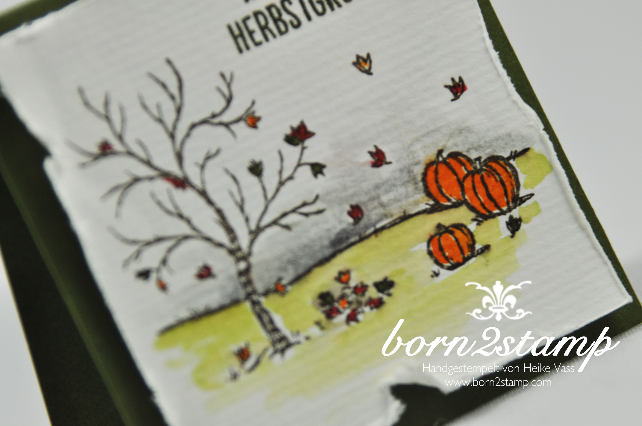 born2stamp STAMPIN' UP! Minikarten – Herbst – Winter – Bloghop – Frohliche Stunden – Aquapainter – Aquarellpapier