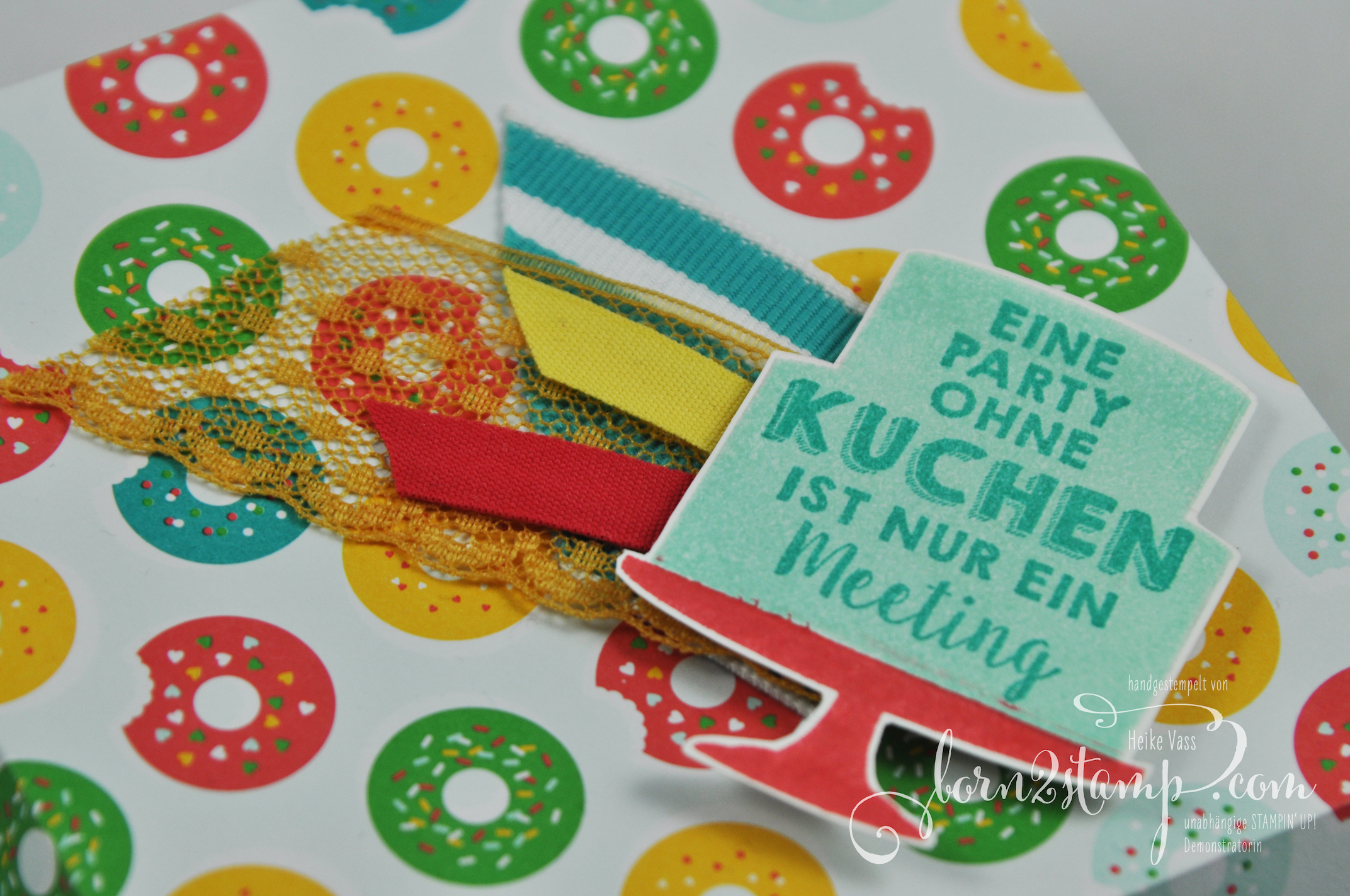 born2stamp STAMPIN' UP! Diamantbox – DSP im Block bunte Party – Party-Gruesse