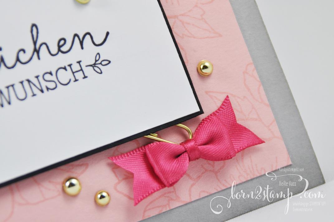 born2stamp STAMPIN' UP! Geburtstagskarte – Geburtstagsblumen – Wunderbare Worte