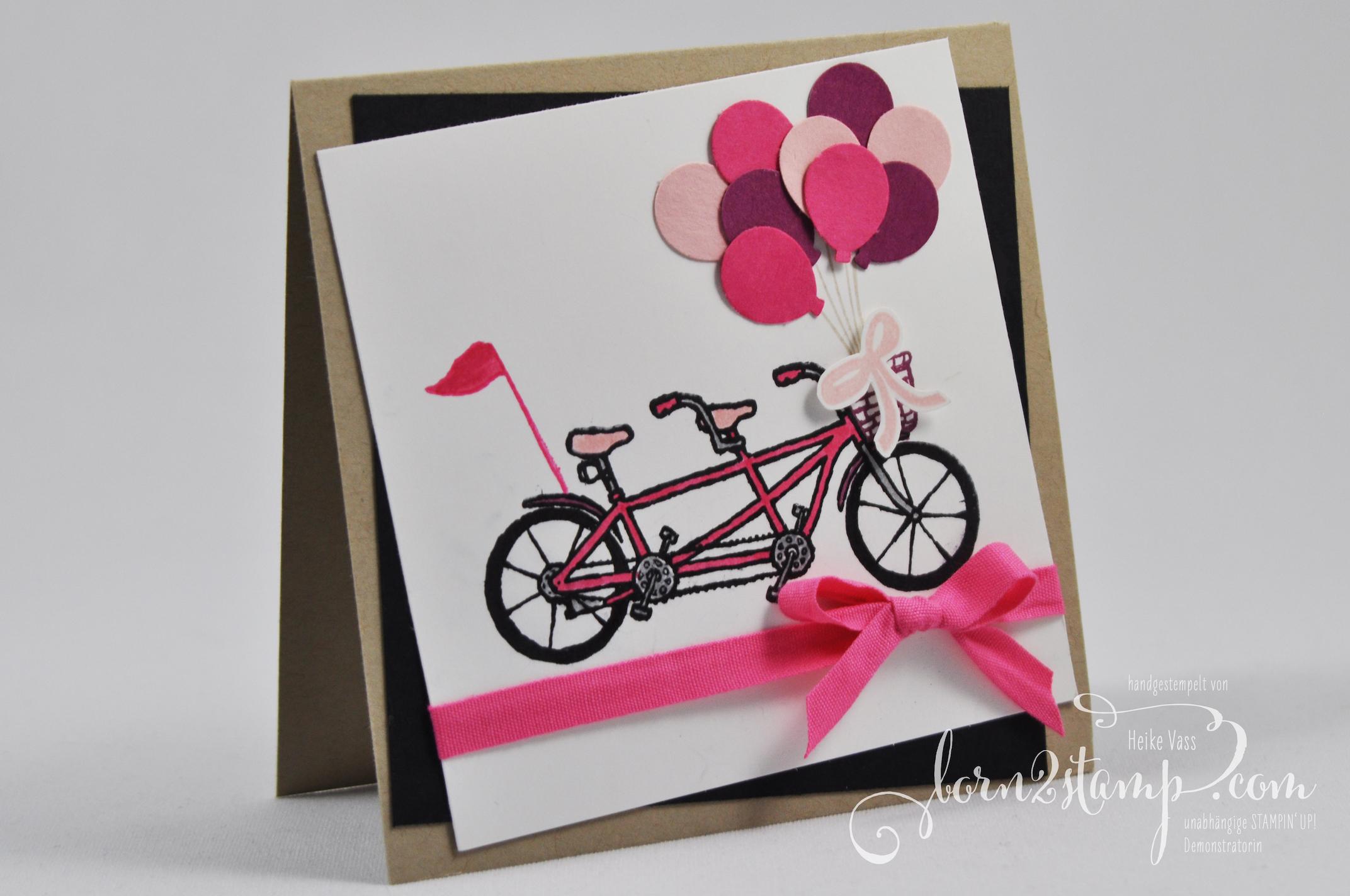 born2stamp STAMPIN' UP! Geburtstagskarte – Gemeinsam stark – Sale-a-bration – Partyballons – Stanzenpaket Party