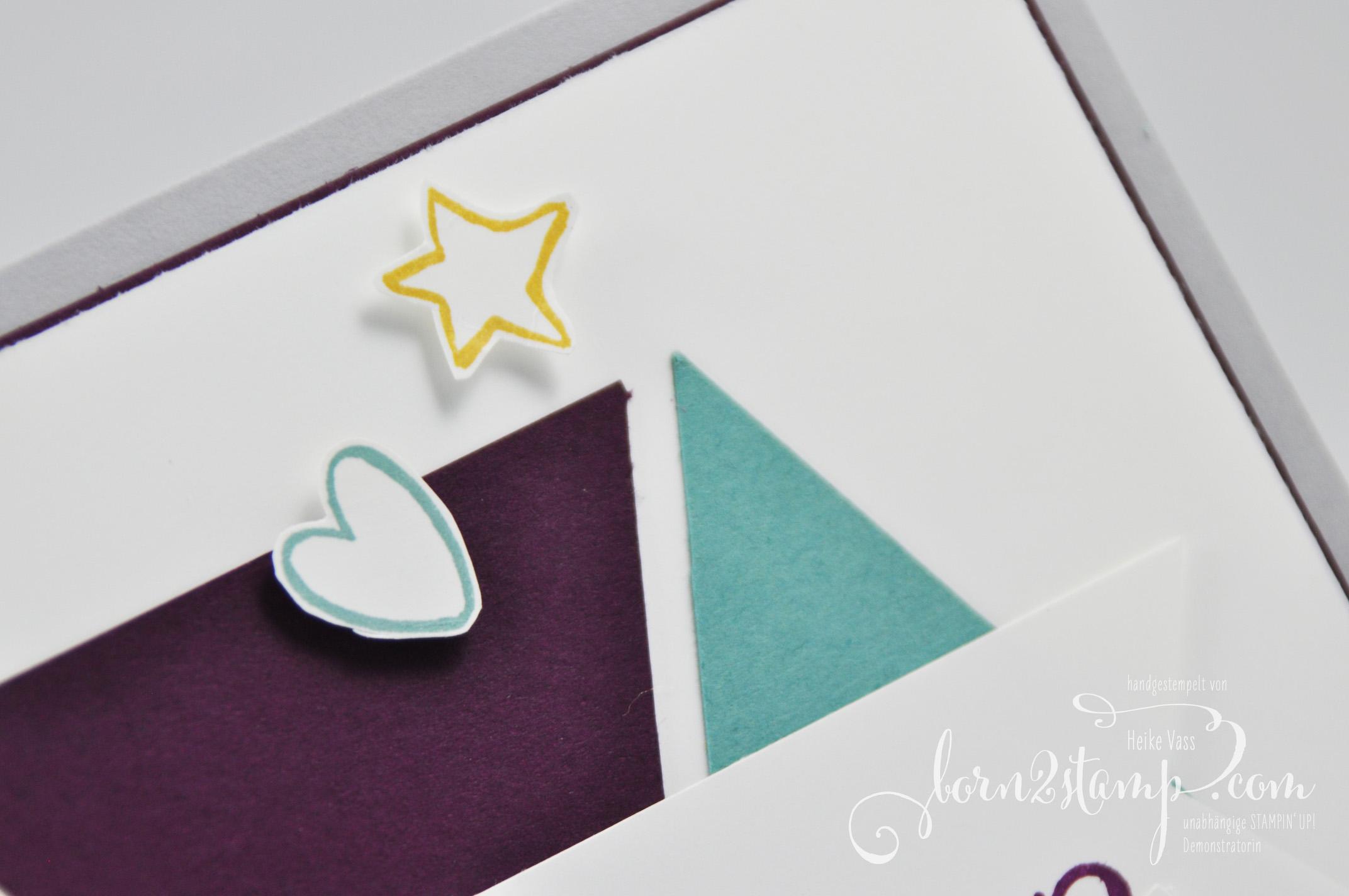 born2stamp STAMPIN' UP! Babykarte Herzlich Willkommen – InColor