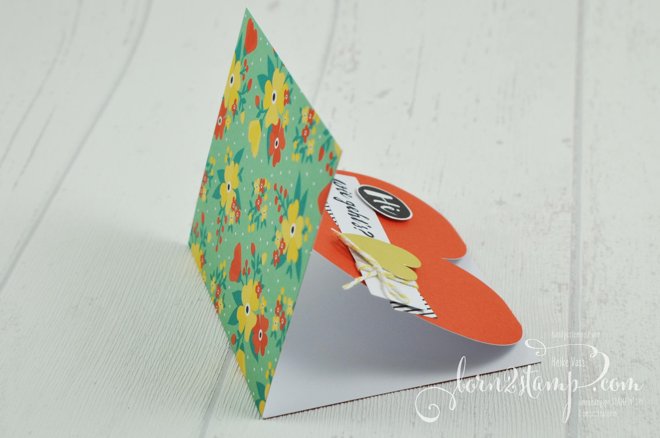 born2stamp STAMPIN' UP! Grusskarte – Kartenset Gute-Laune-Gruesse