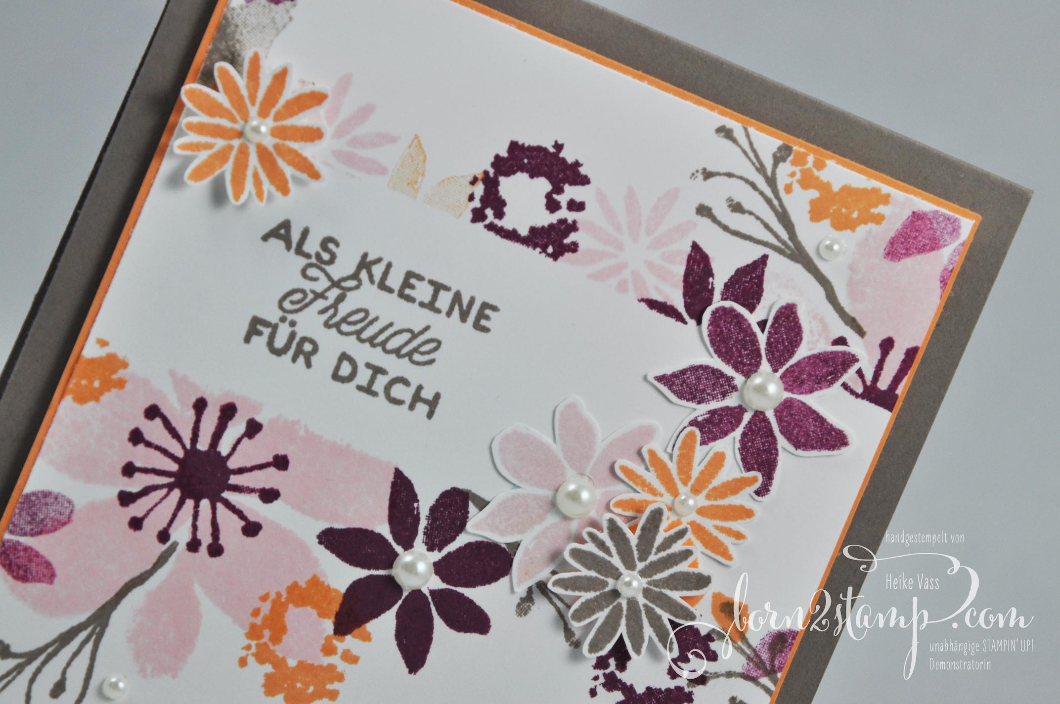 born2stamp STAMPIN' UP! Grusskarte – Durch die Blume – Designer-Grusselemente