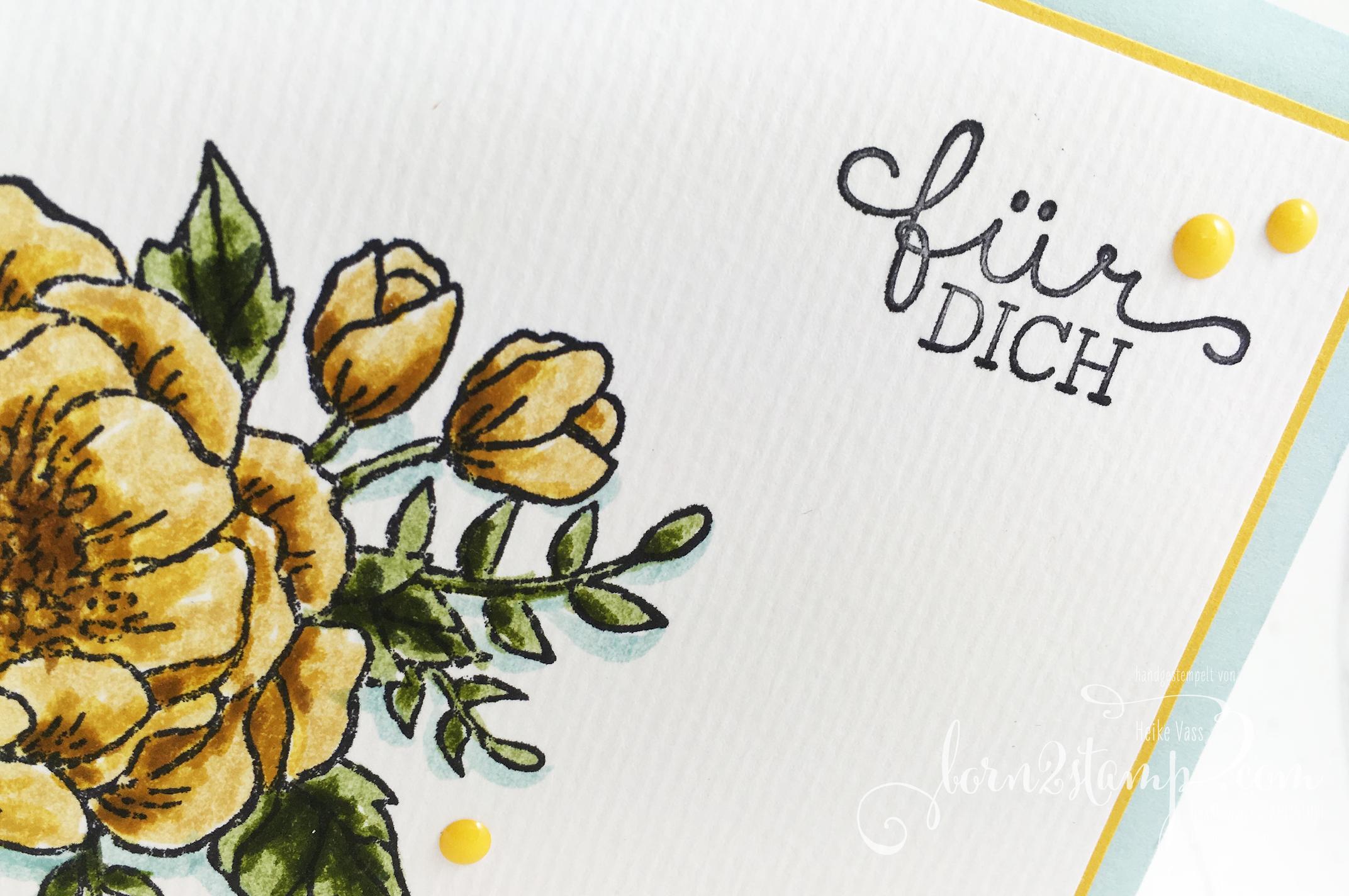 born2stamp STAMPIN' UP! Grusskarte – Geburtstagsblumen – Stampin' Write Marker
