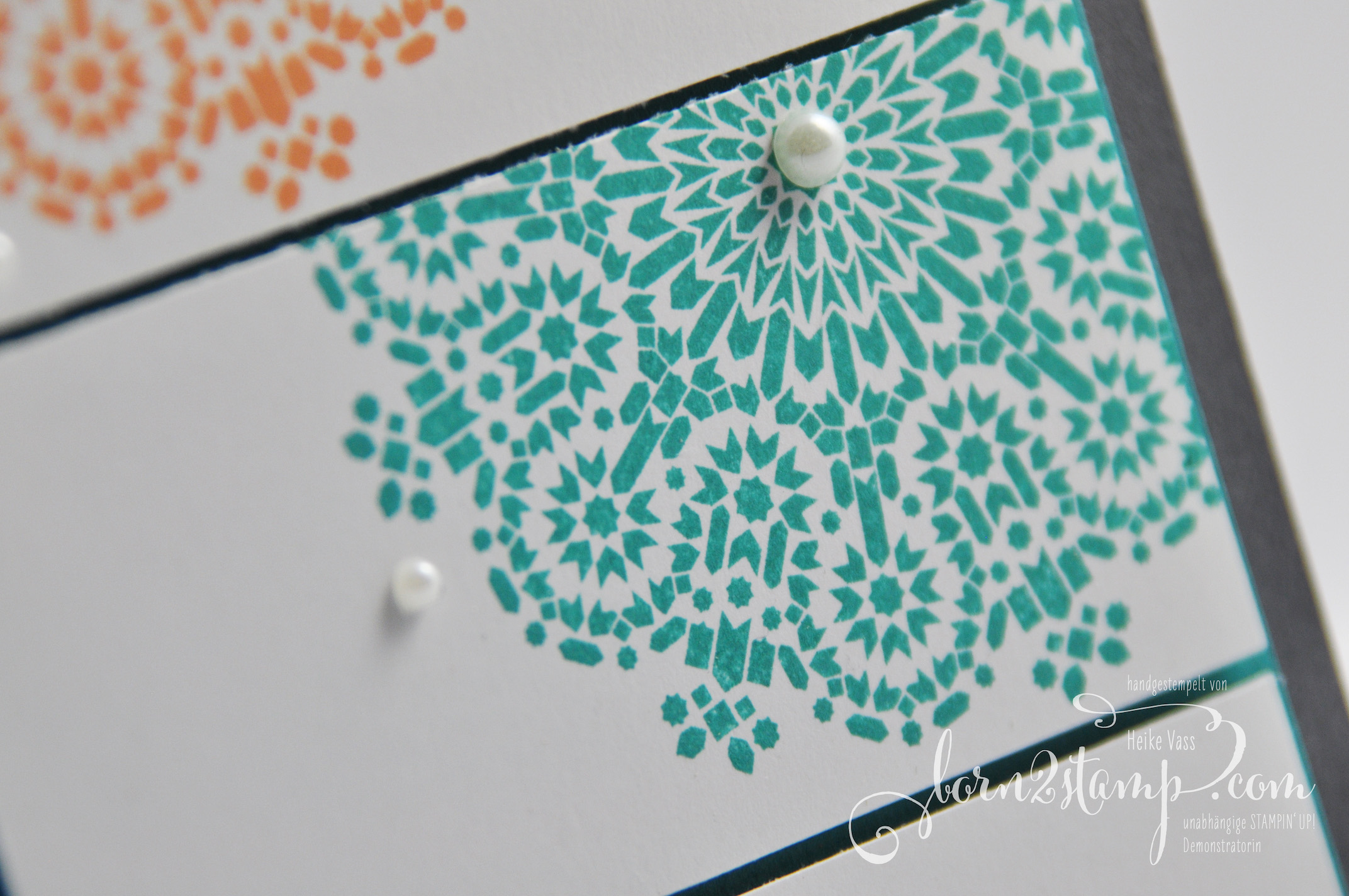 born2stamp STAMPIN' UP! Karte – Moroccan Nights – Glasklare Gruesse