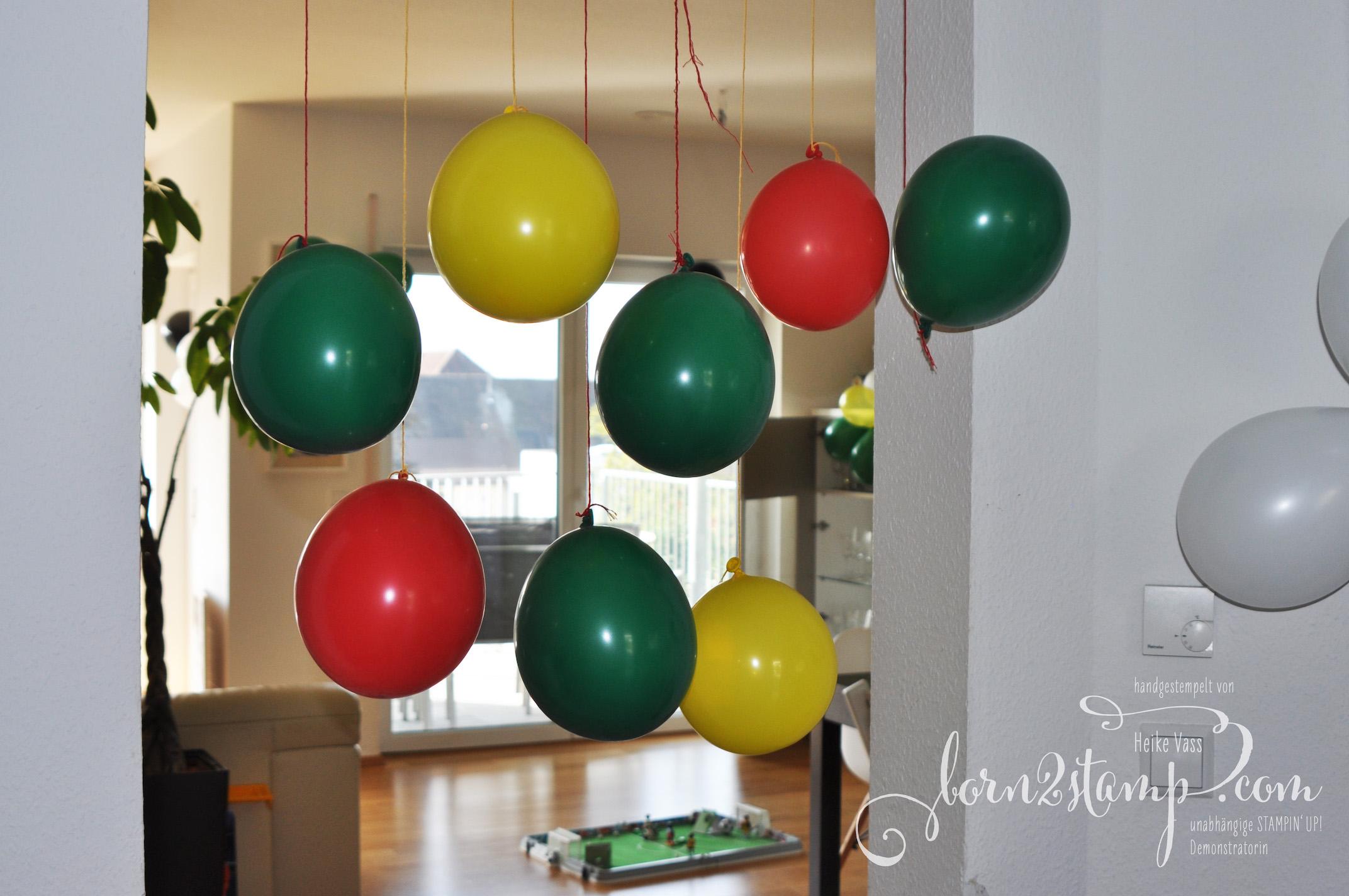 born2stamp STAMPIN' UP! Fussball-Party – Deko