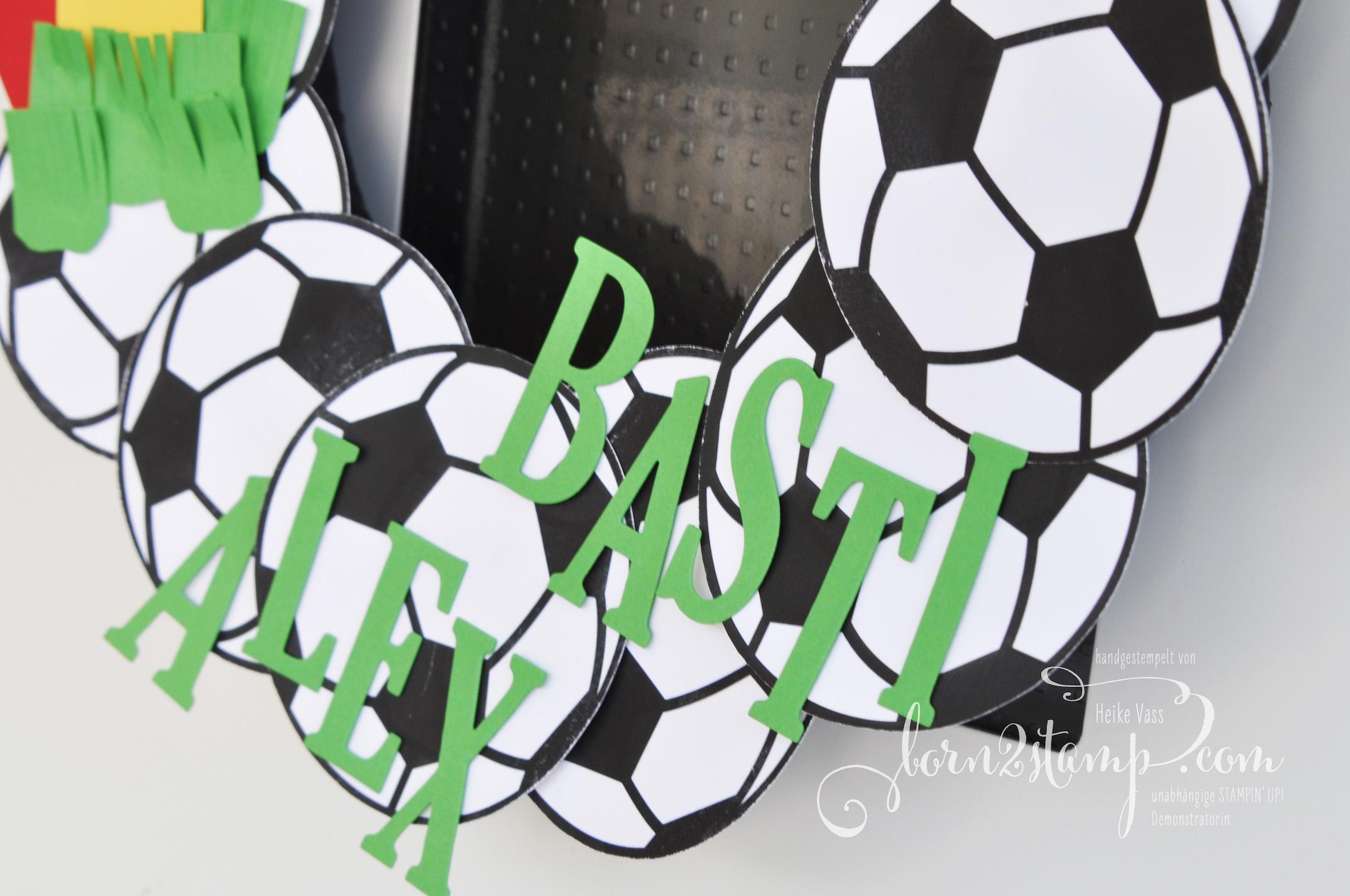 born2stamp STAMPIN' UP! Fussball-Party Türkranz
