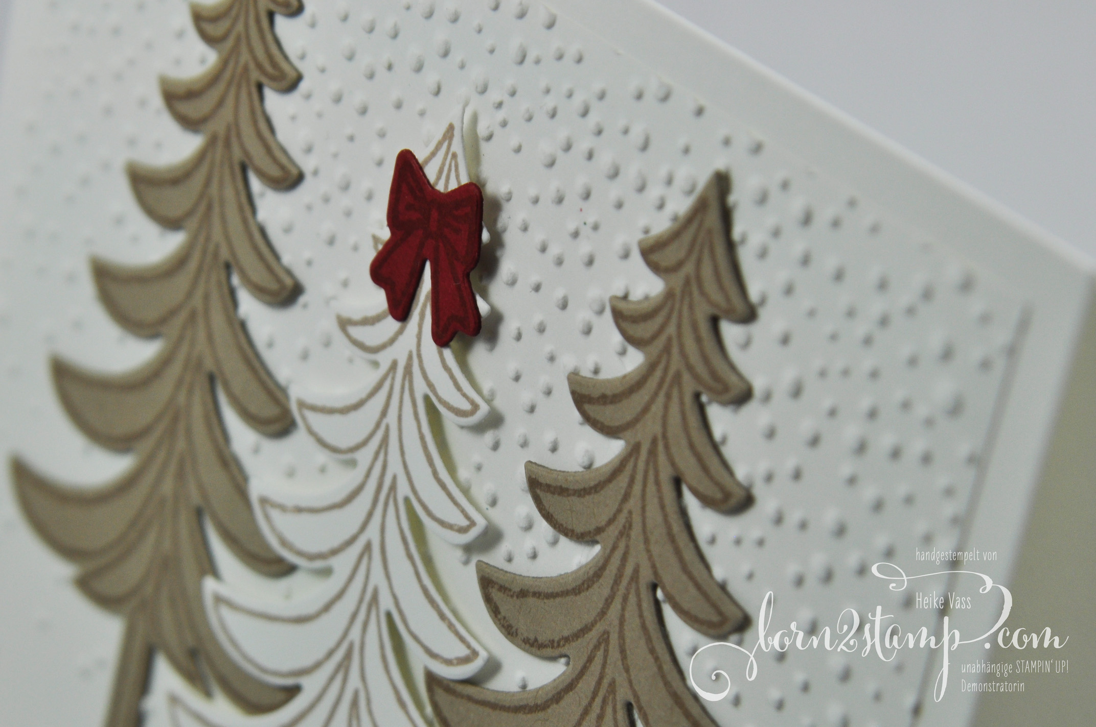 born2stamp IN{K}SPIRE_me STAMPIN' UP Weihnachtskarte – Weihnachtsschlitten – Tannenzauber- – Leise rieselt